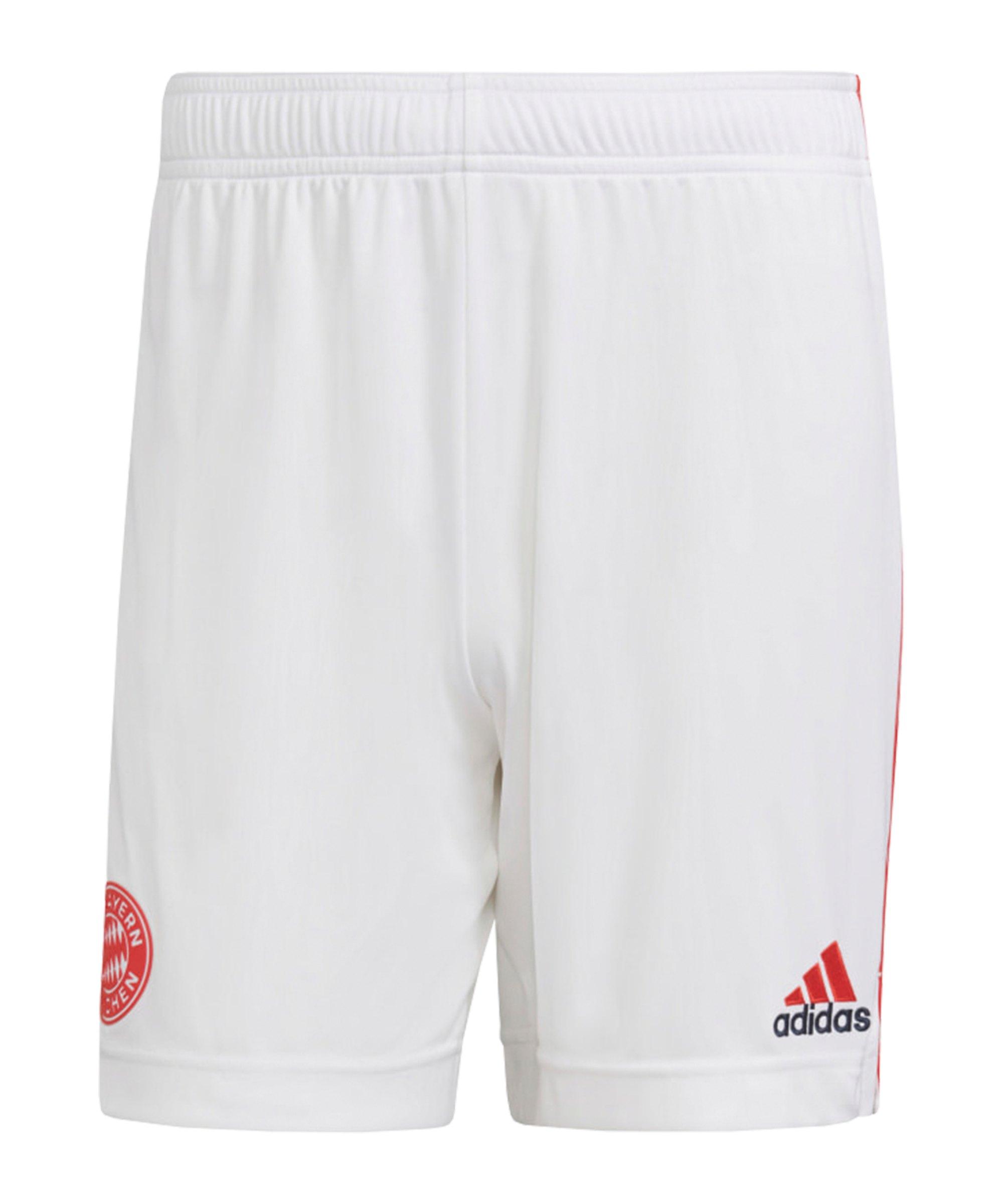 adidas FC Bayern München Short UCL 2021/2022 Weiss - weiss