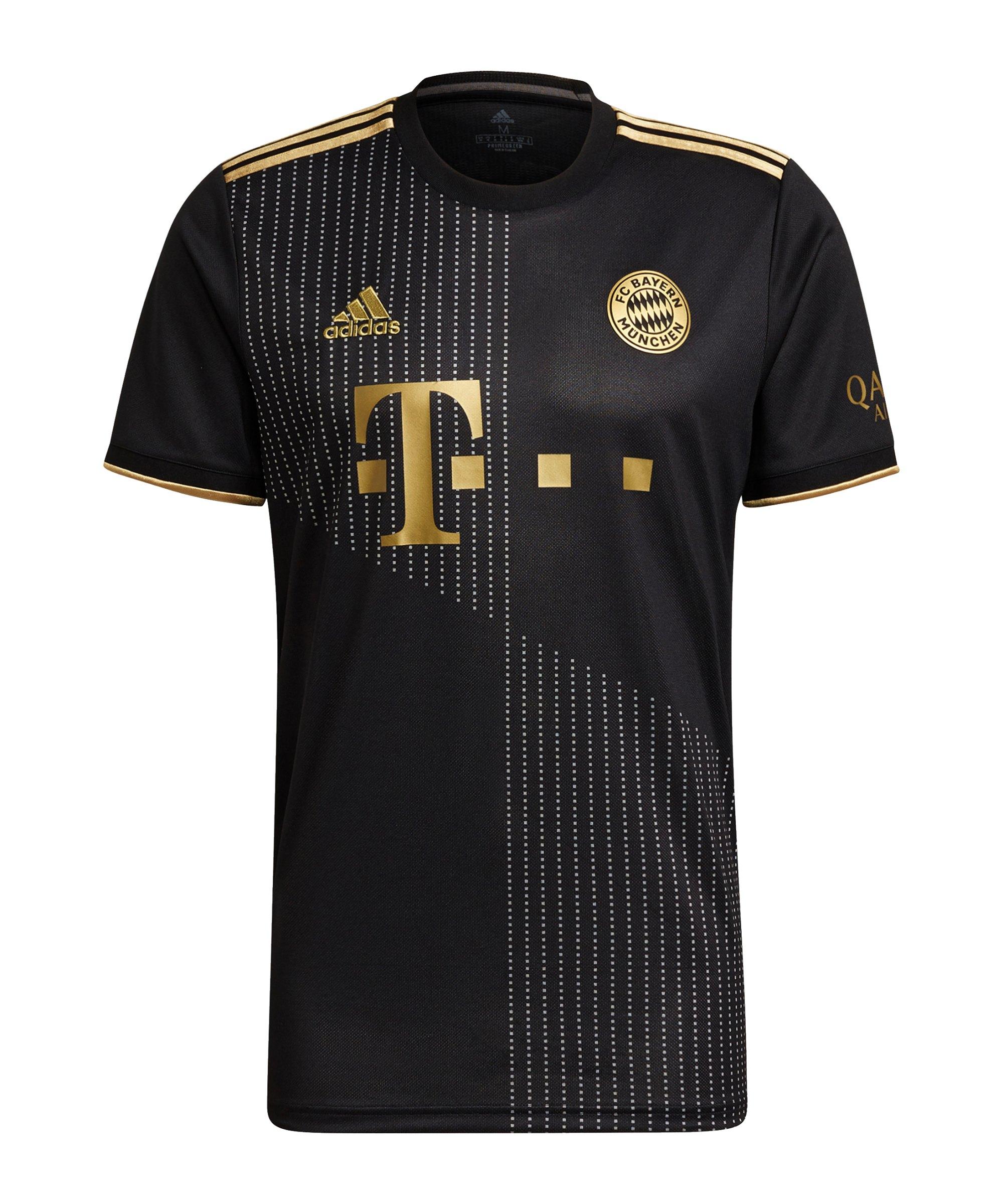 adidas FC Bayern München Trikot Away 2021/2022 Schwarz - schwarz