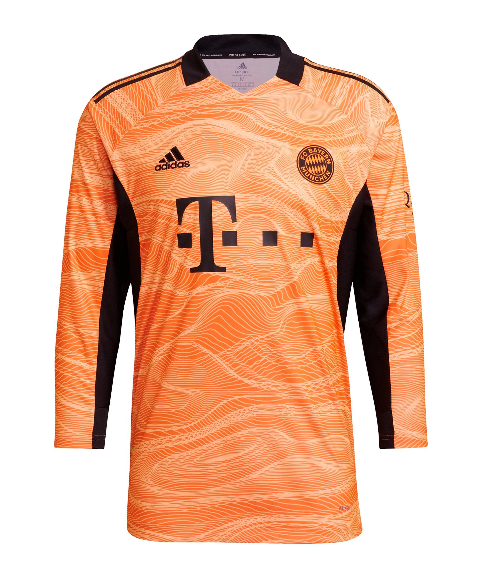 adidas FC Bayern München TW-Trikot 2021/2022 Orange - orange