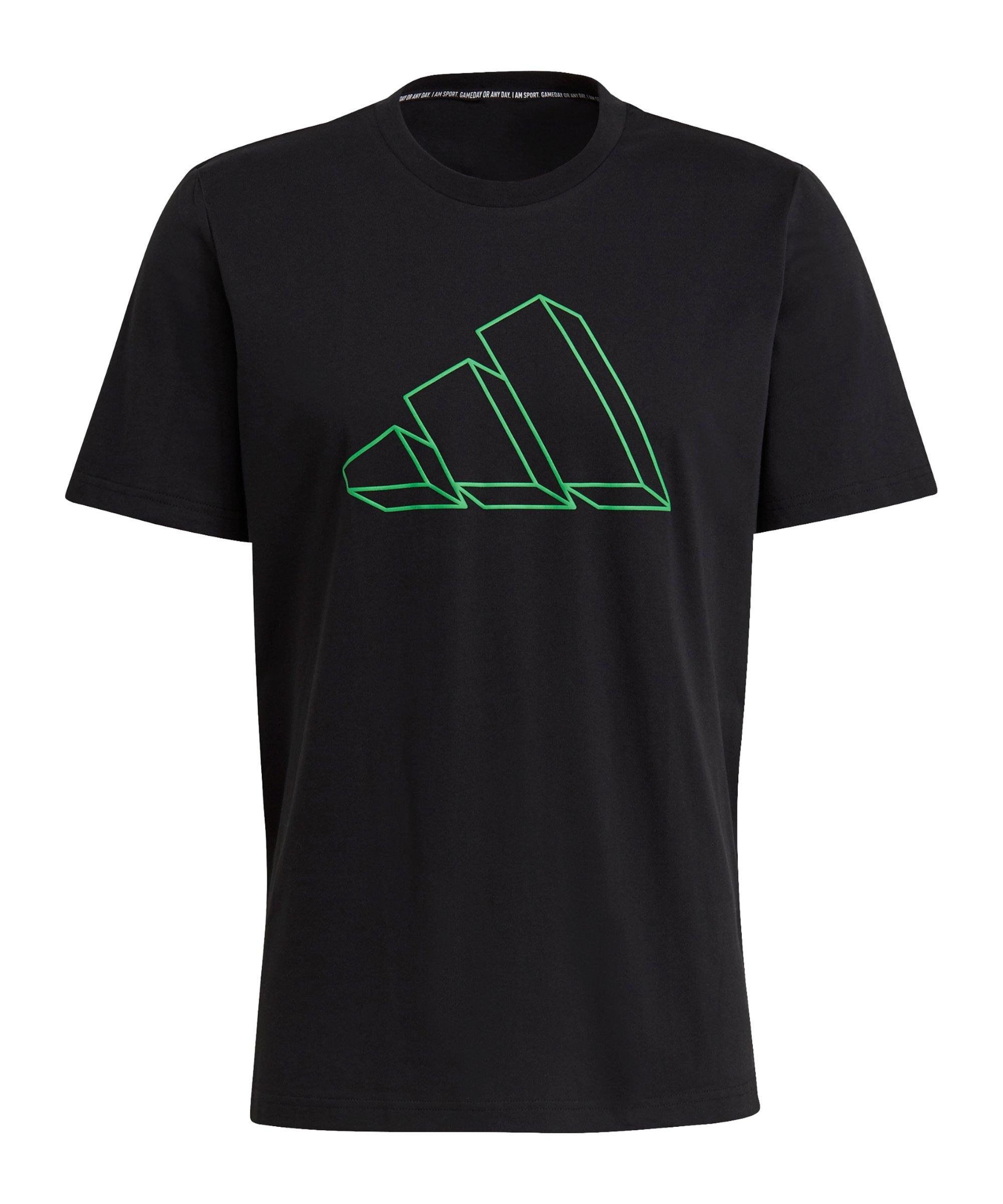 adidas GFX T-Shirt Schwarz - schwarz