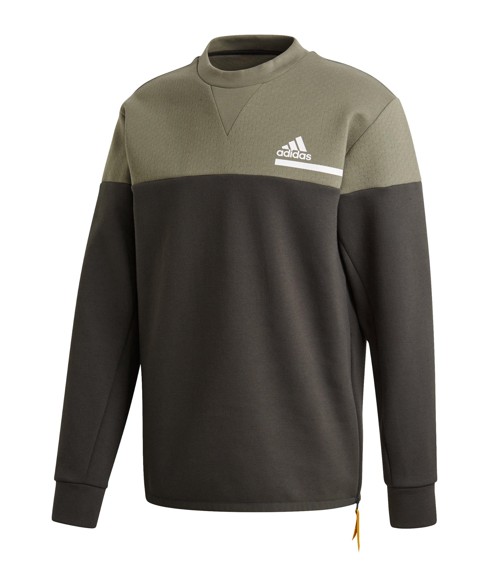 adidas Z.N.E. Crew Sweatshirt Grün - gruen