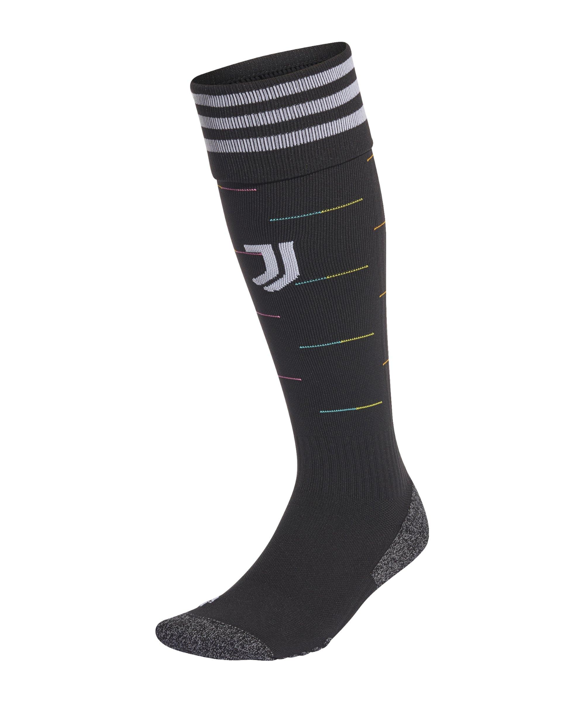 adidas Juventus Turin Stutzen Away 21/22 Schwarz - schwarz