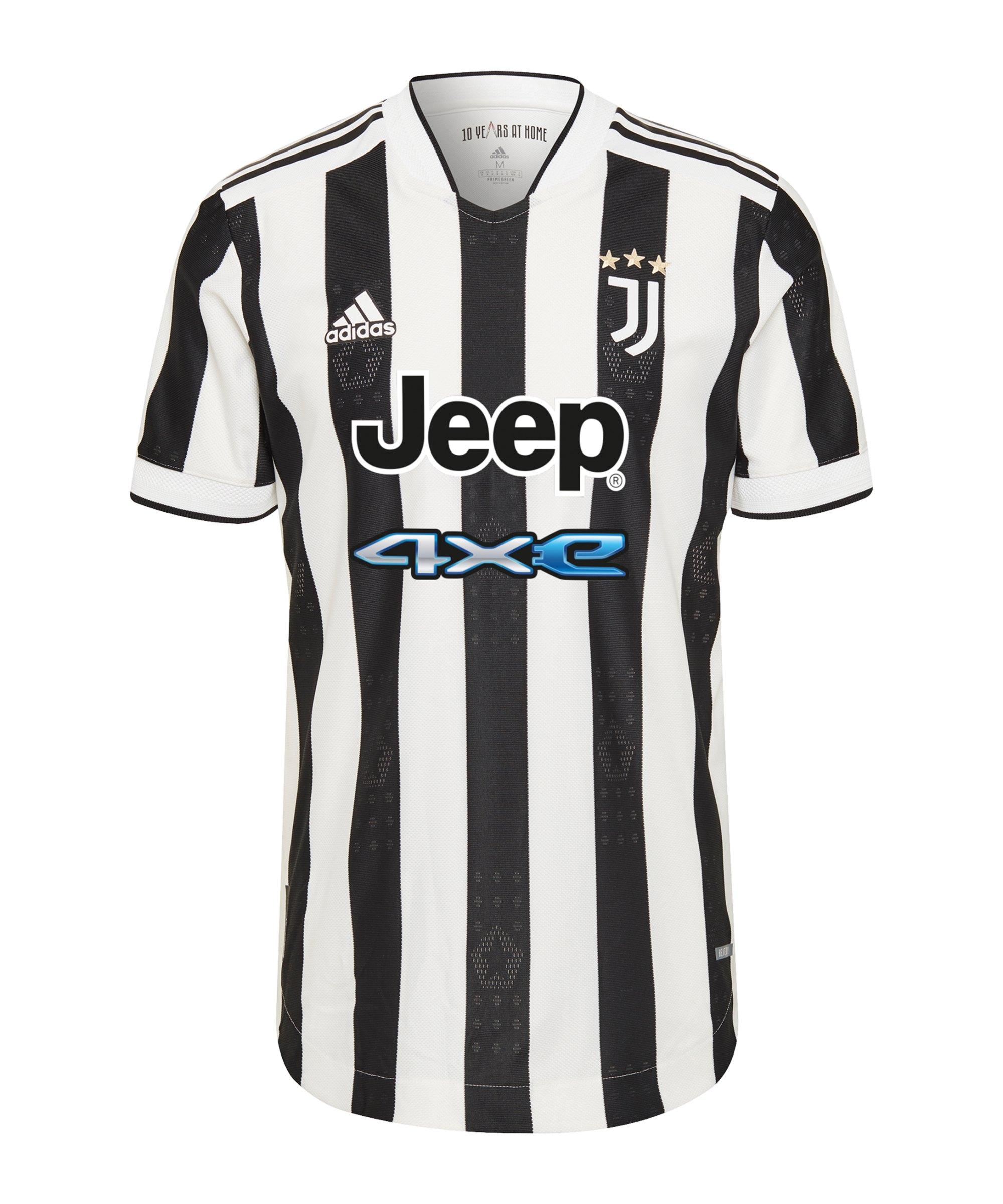 adidas Juventus Turin Auth. Trikot Home 2021/2022 Weiss - weiss