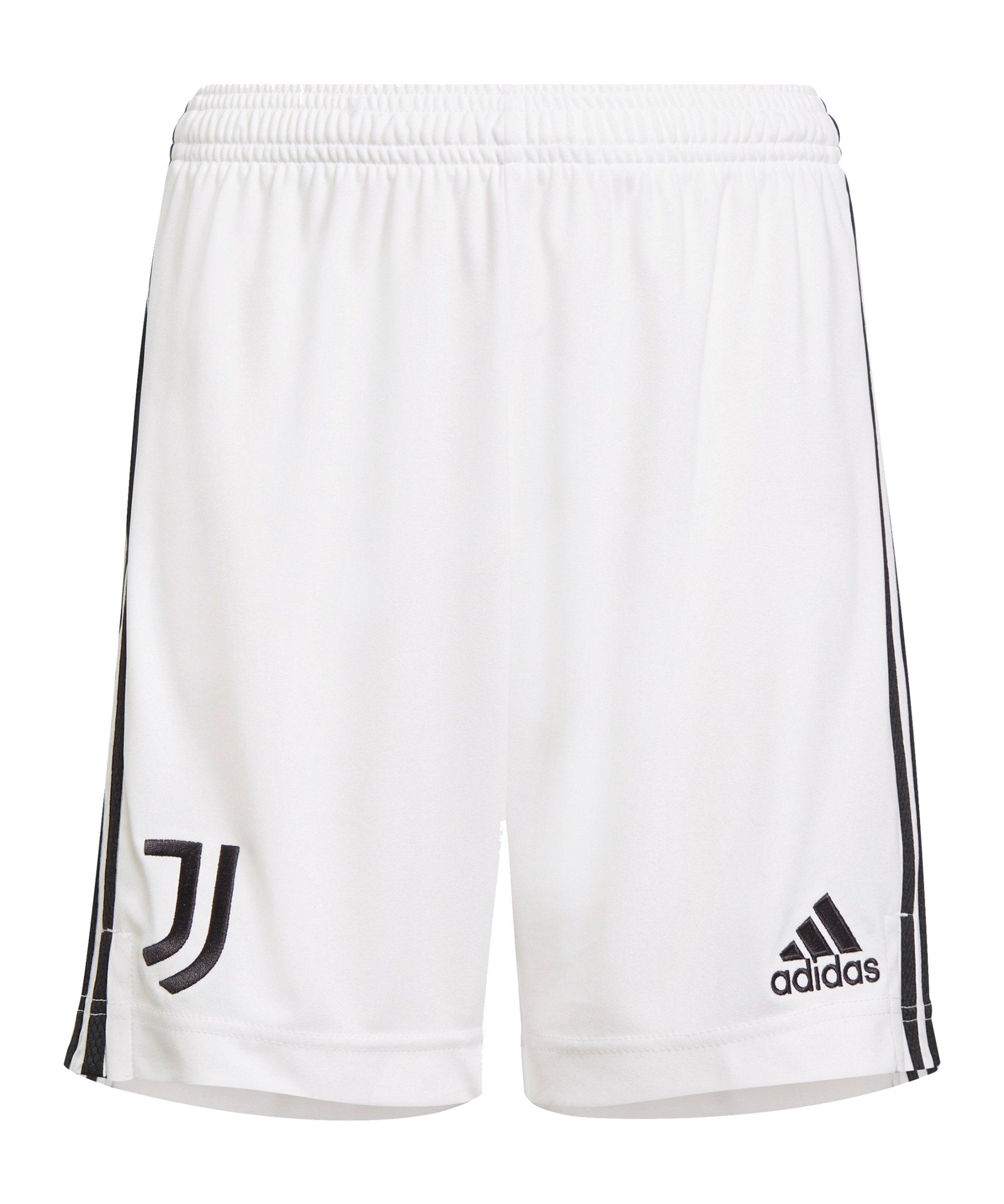 adidas Juventus Turin Short Home 2021/2022 Weiss - weiss