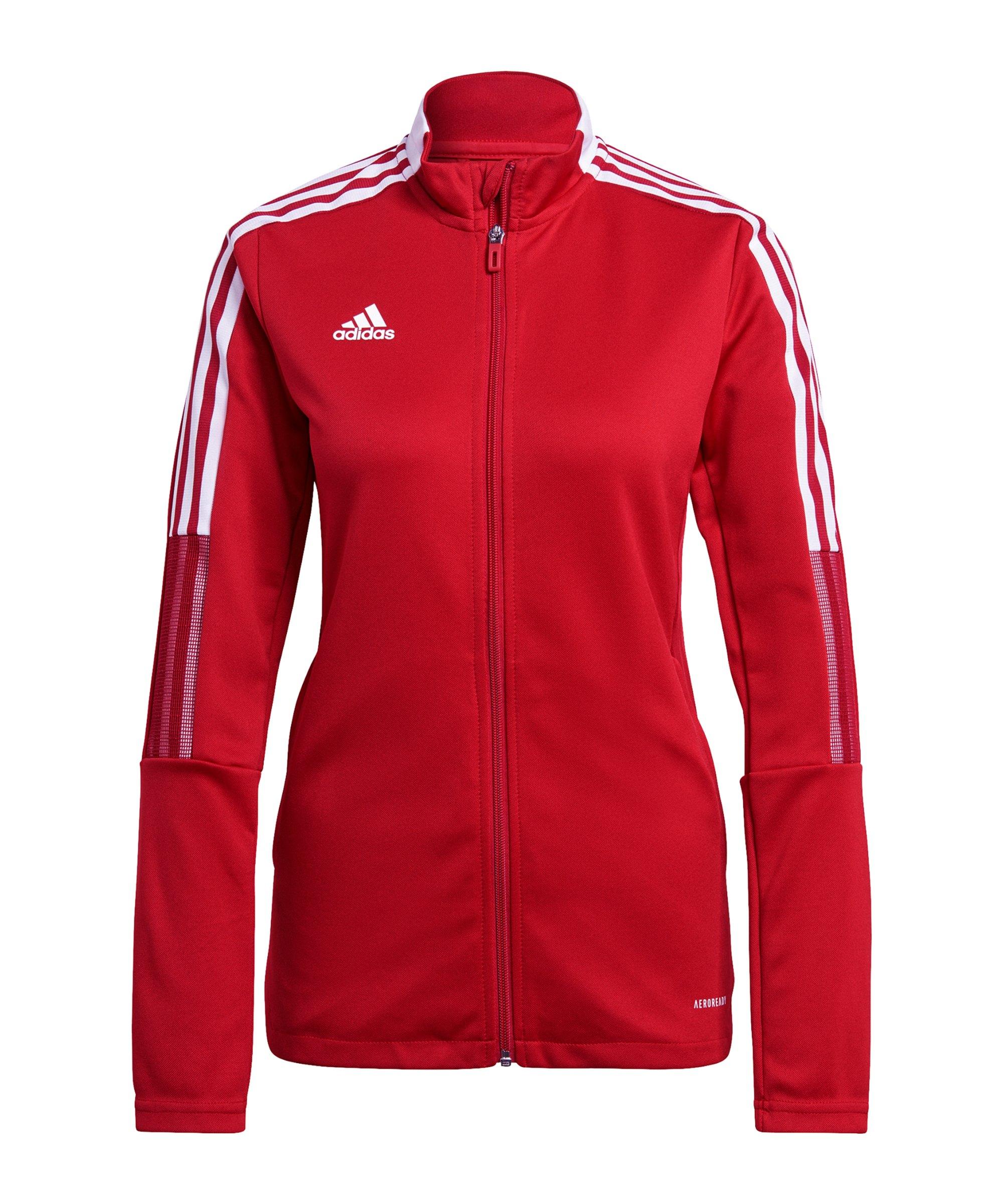 adidas Tiro 21 Trainingsjacke Damen Rot - rot