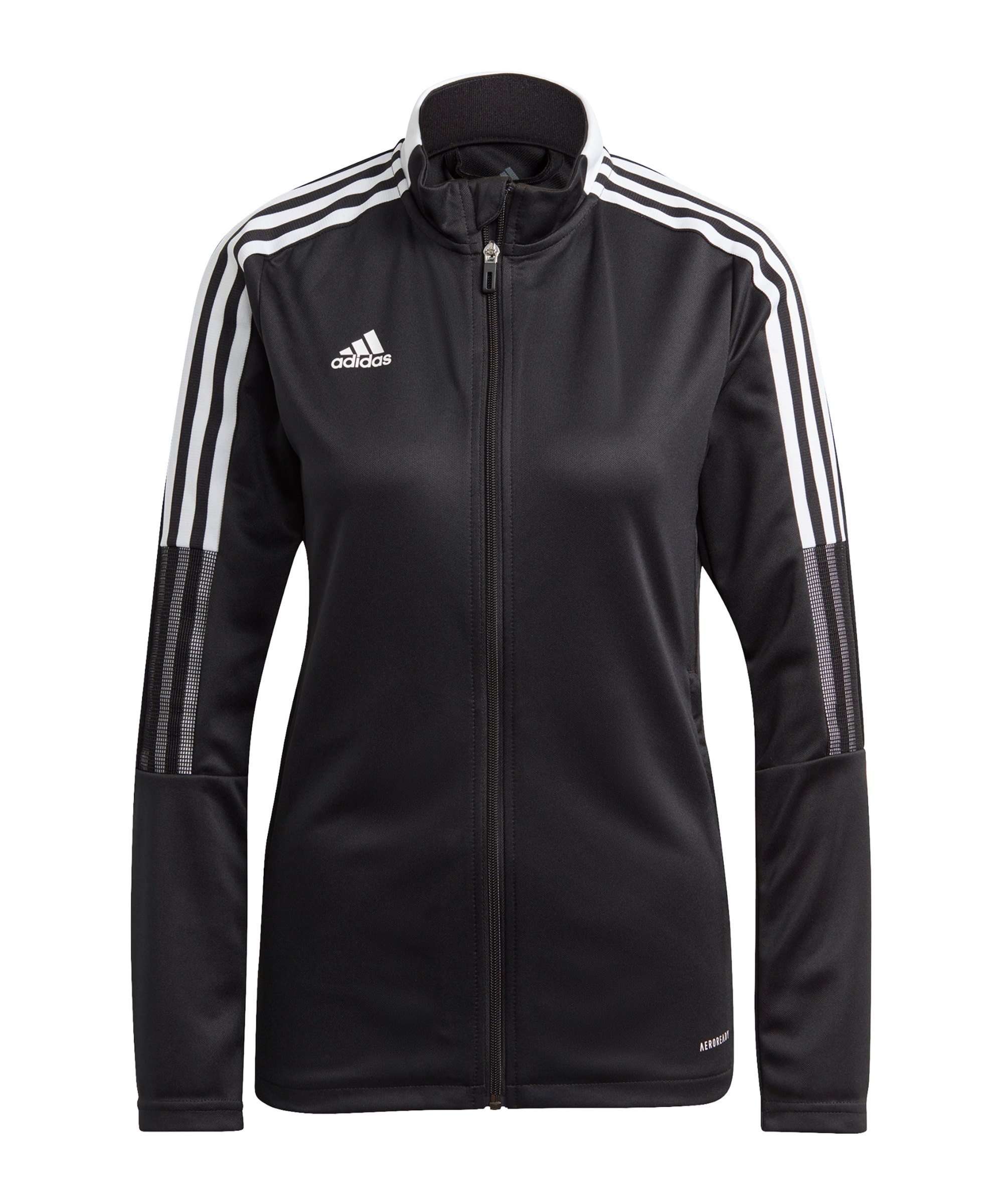 adidas Tiro 21 Trainingsjacke Damen Schwarz - schwarz