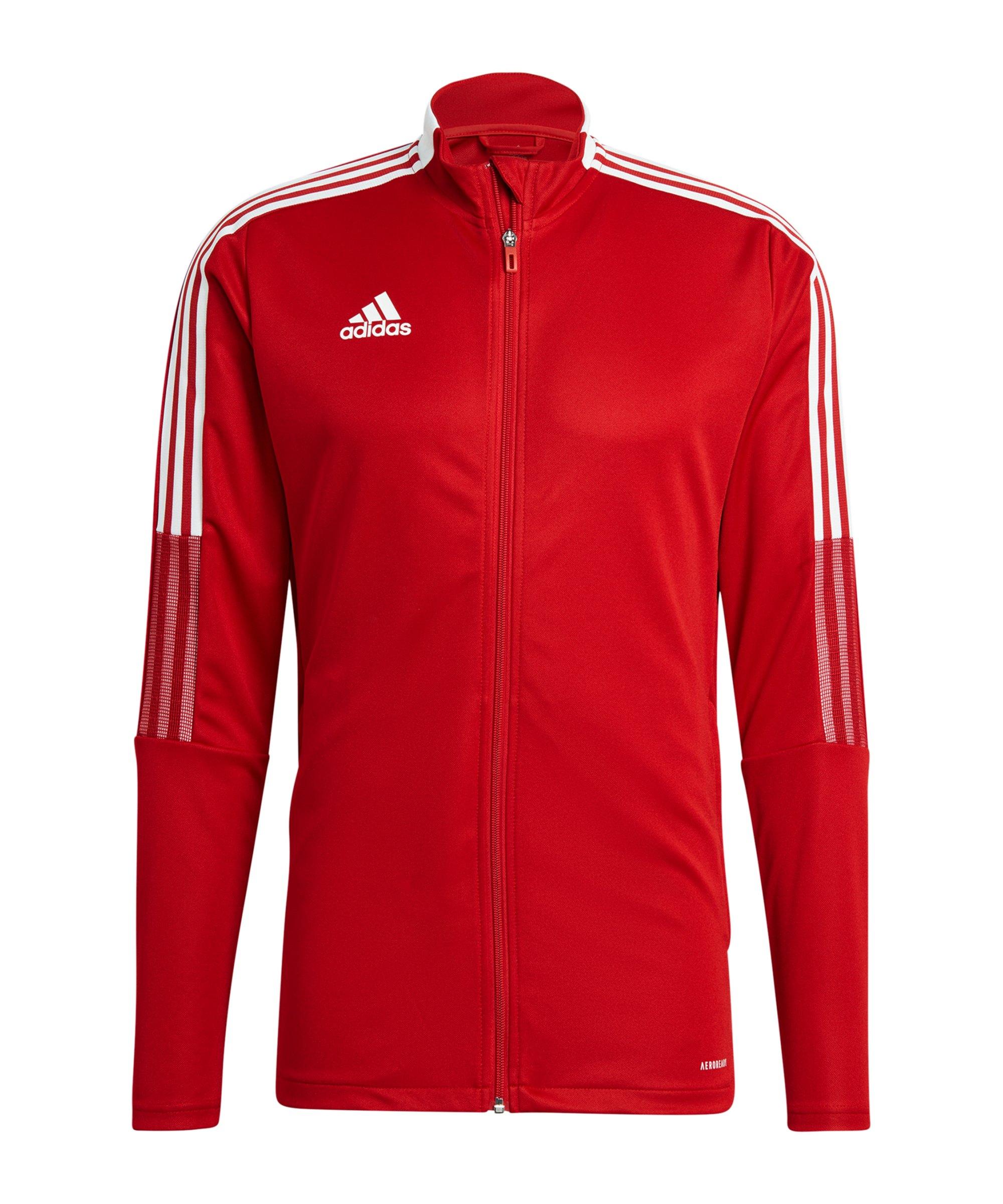 adidas Tiro 21 Trainingsjacke Rot - rot