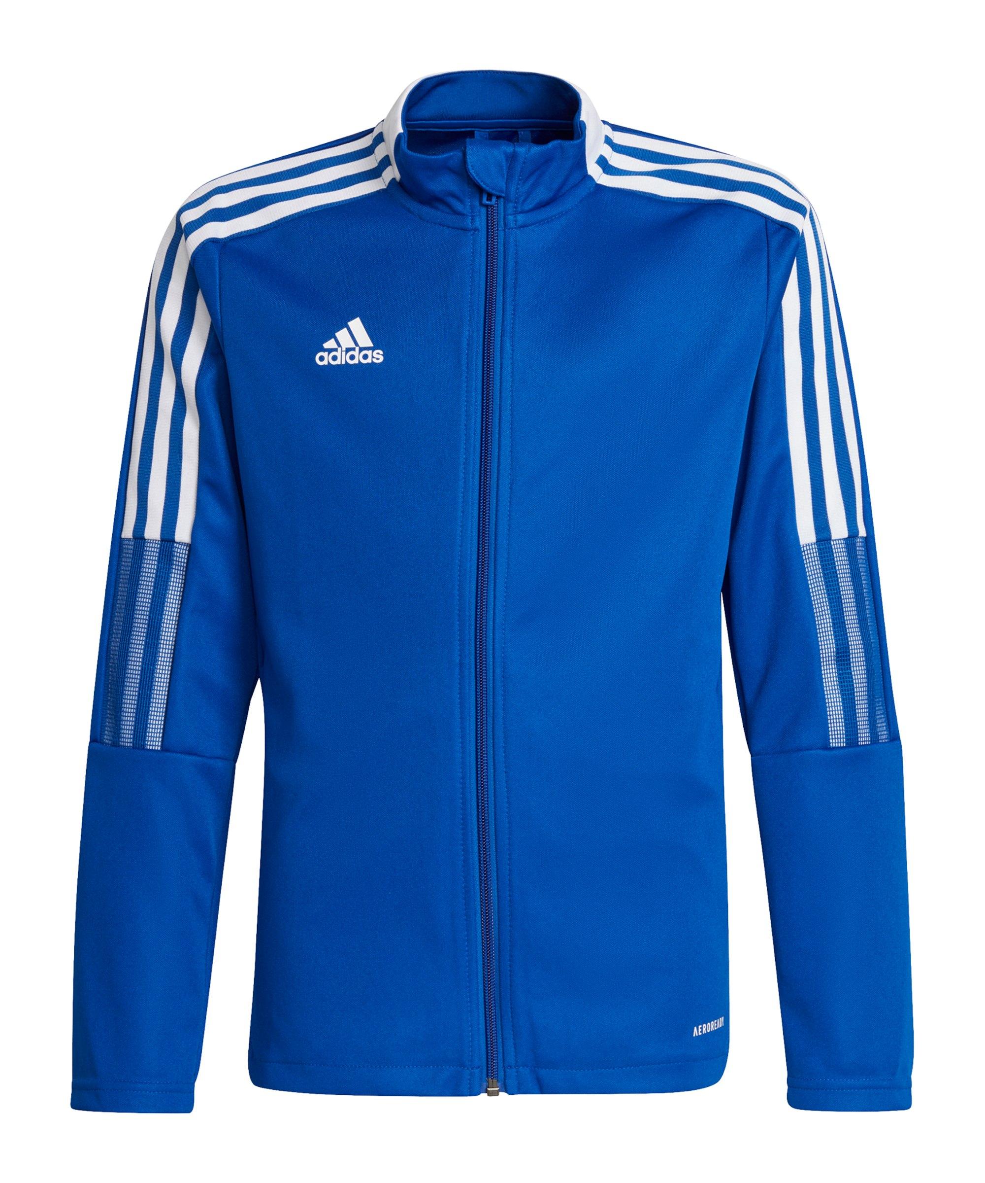 adidas Tiro 21 Trainingsjacke Kids Blau - blau