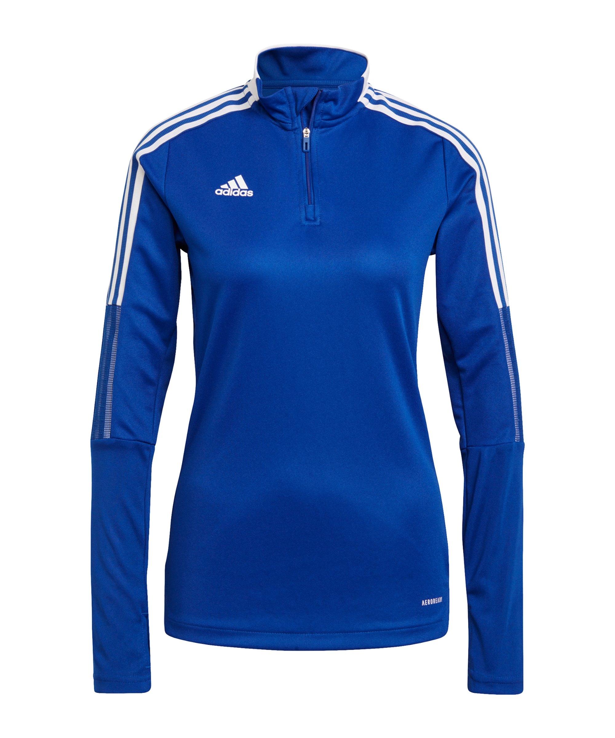 adidas Tiro 21 Trainingstop Damen Blau - blau
