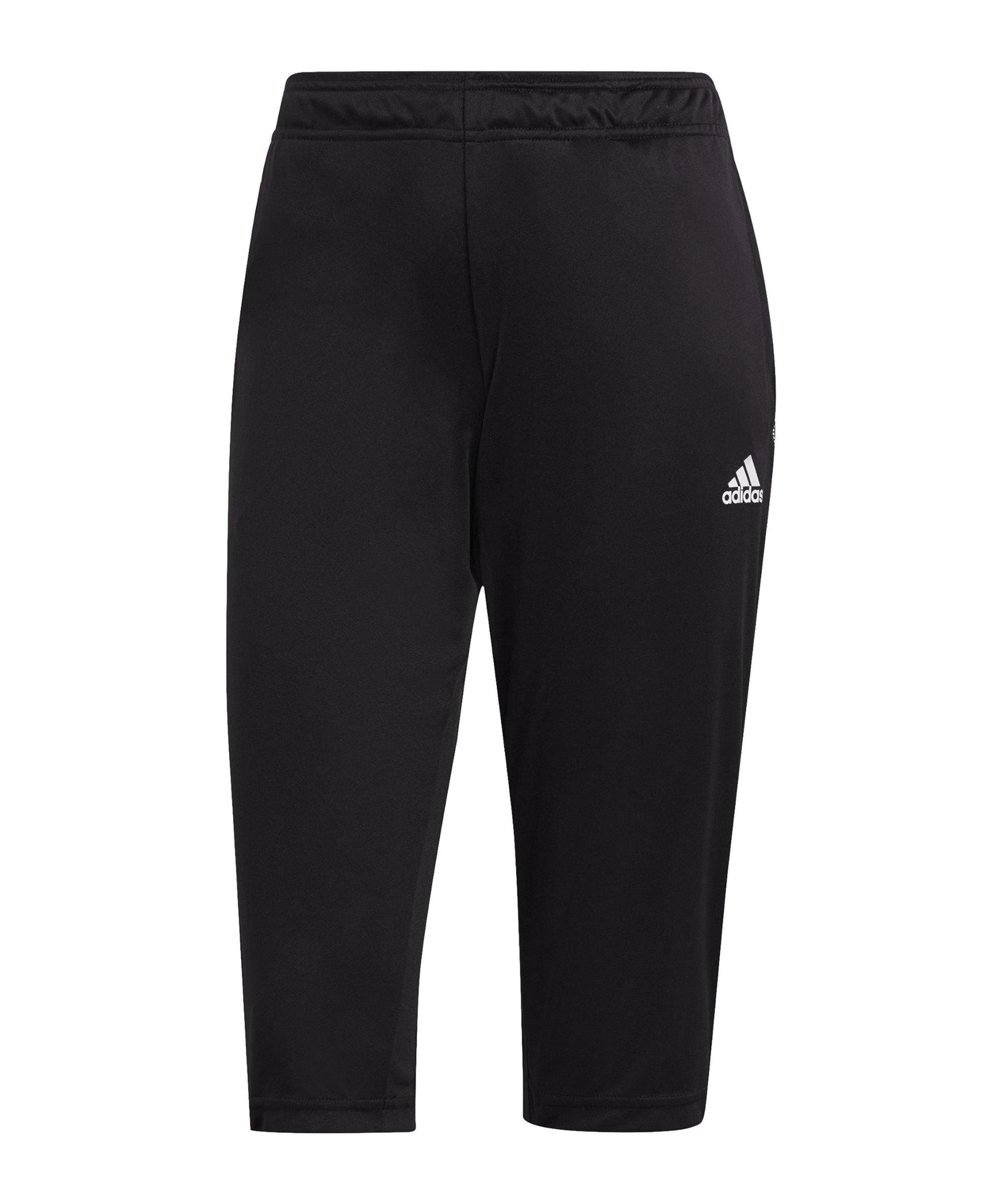 adidas Tiro 21 3/4 Trainingshose Damen Schwarz - schwarz