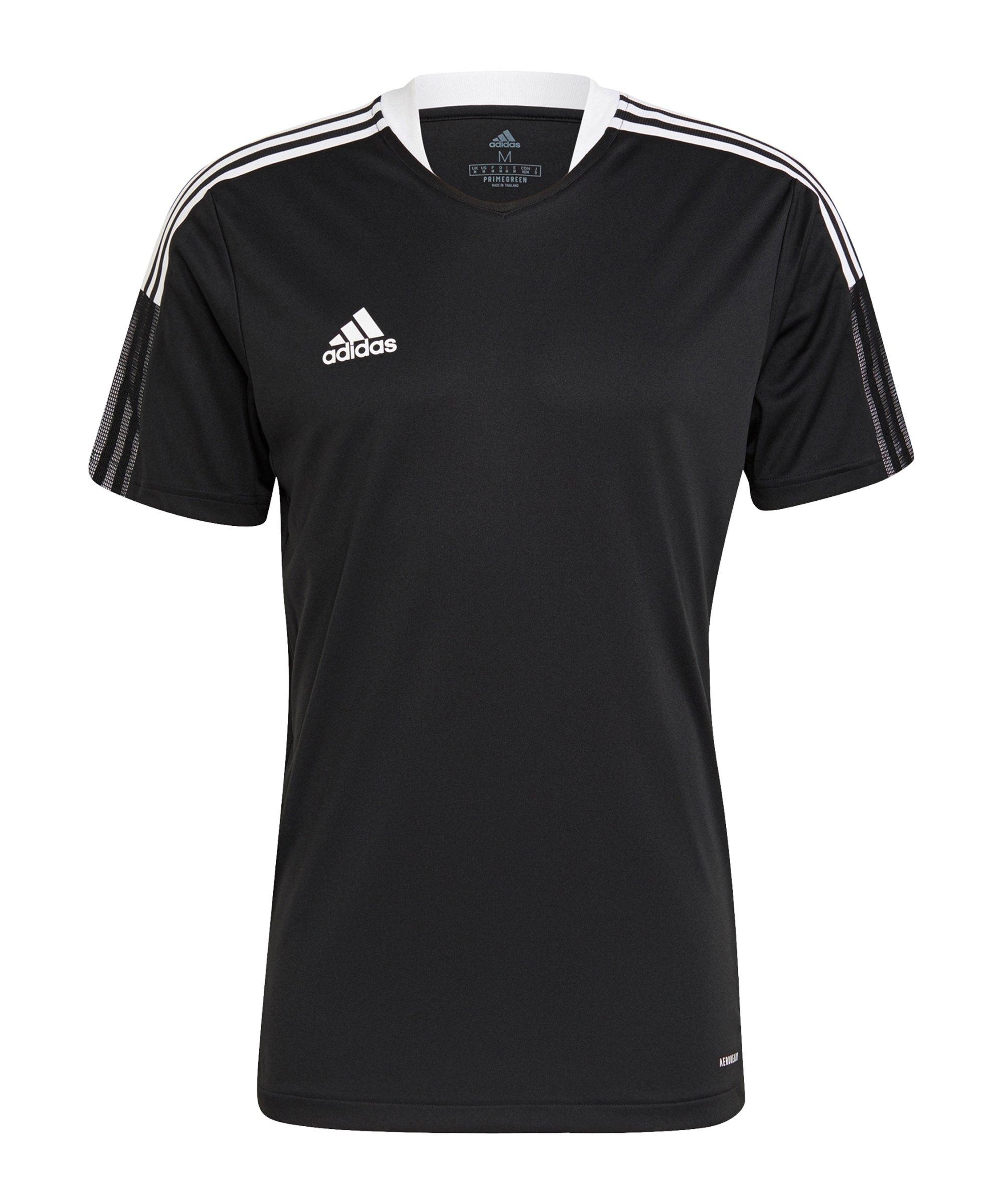 adidas Tiro 21 Trainingsshirt Schwarz - schwarz
