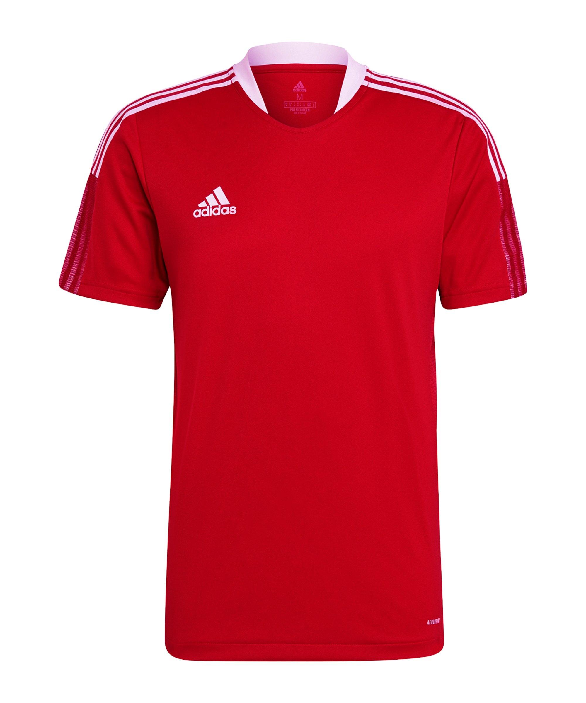 adidas Tiro 21 Trainingsshirt Rot - rot