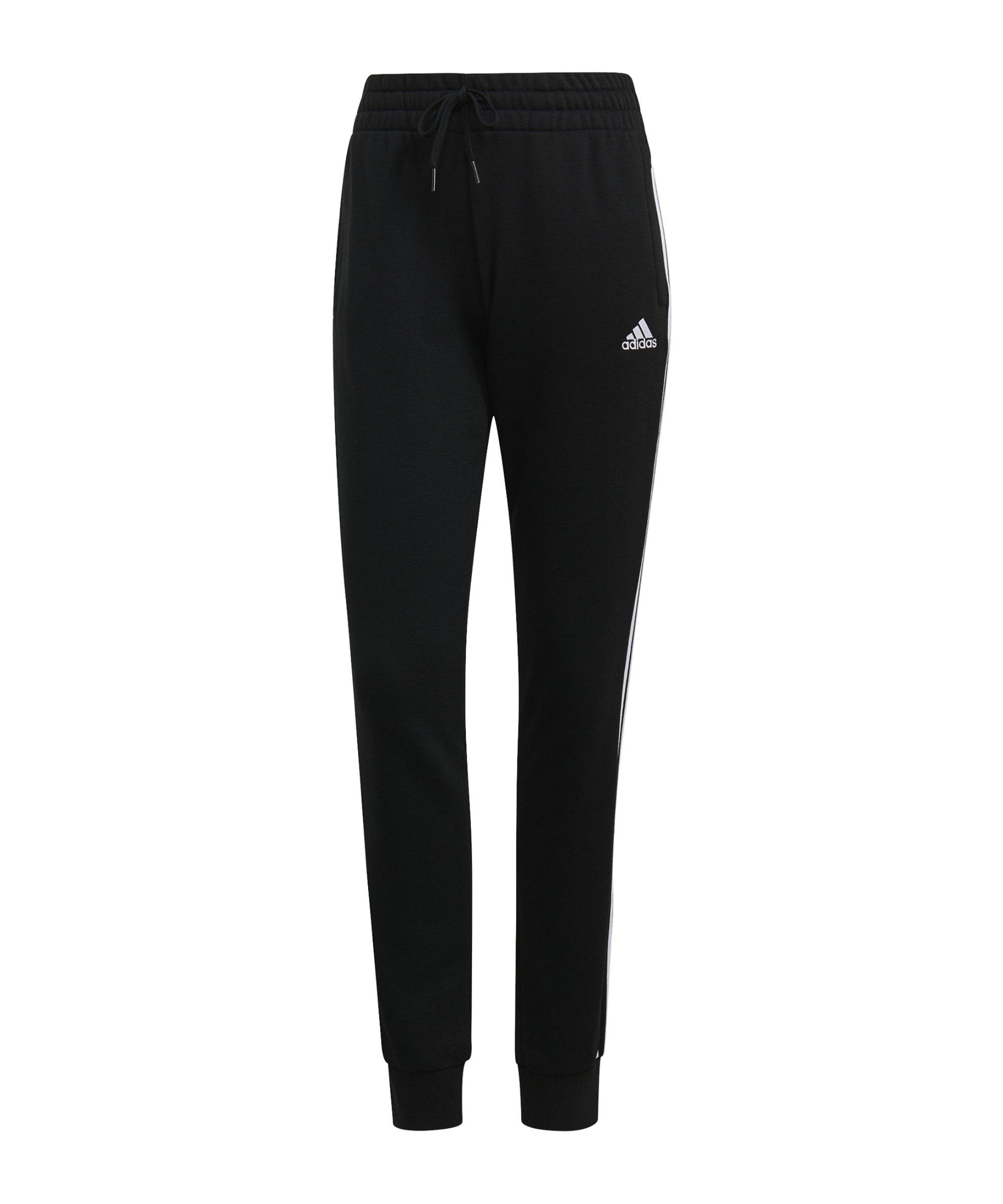 adidas Essentials Jogginghose Damen Schwarz Weiss - schwarz