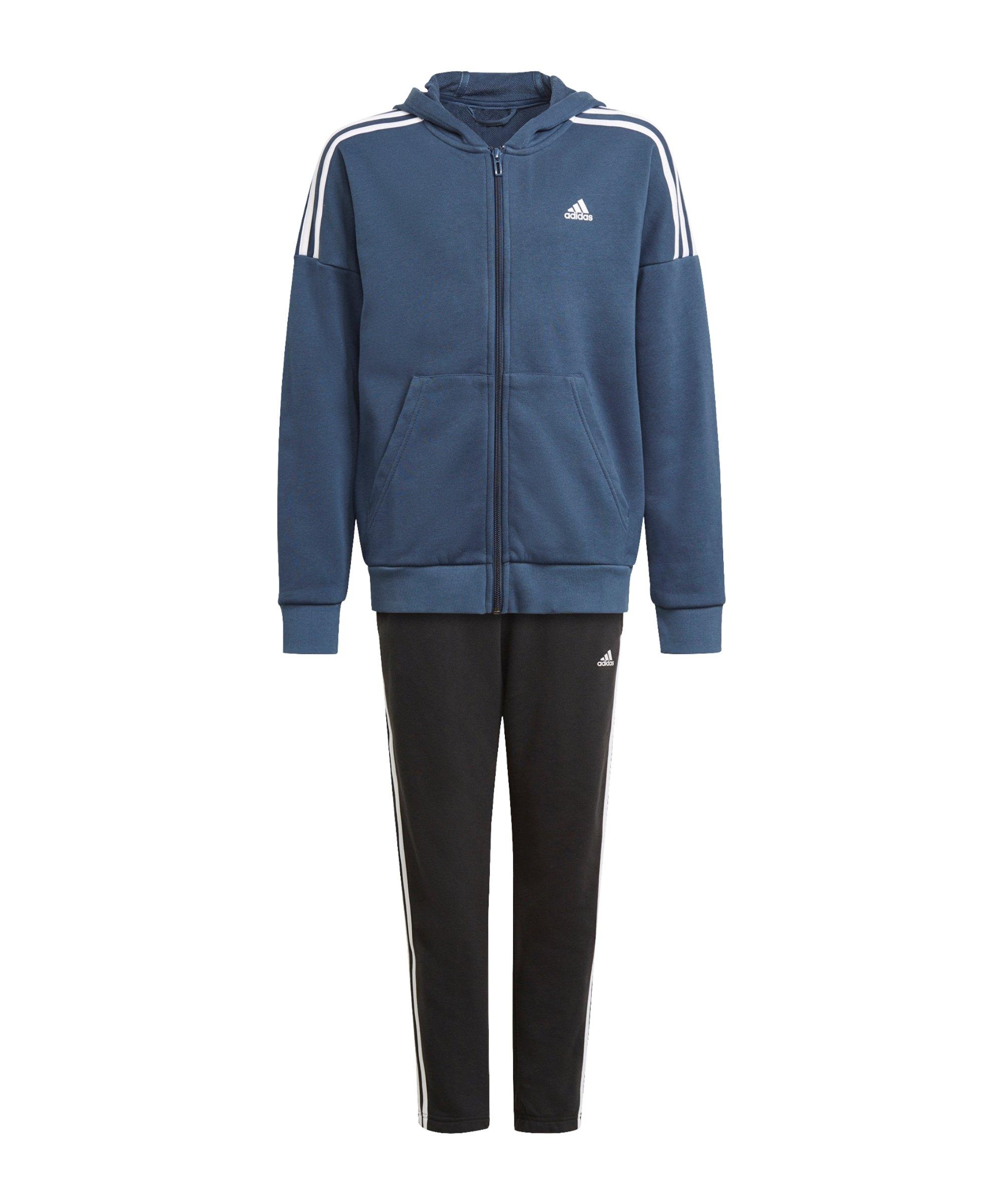 adidas Trainingsanzug Kids Blau - blau
