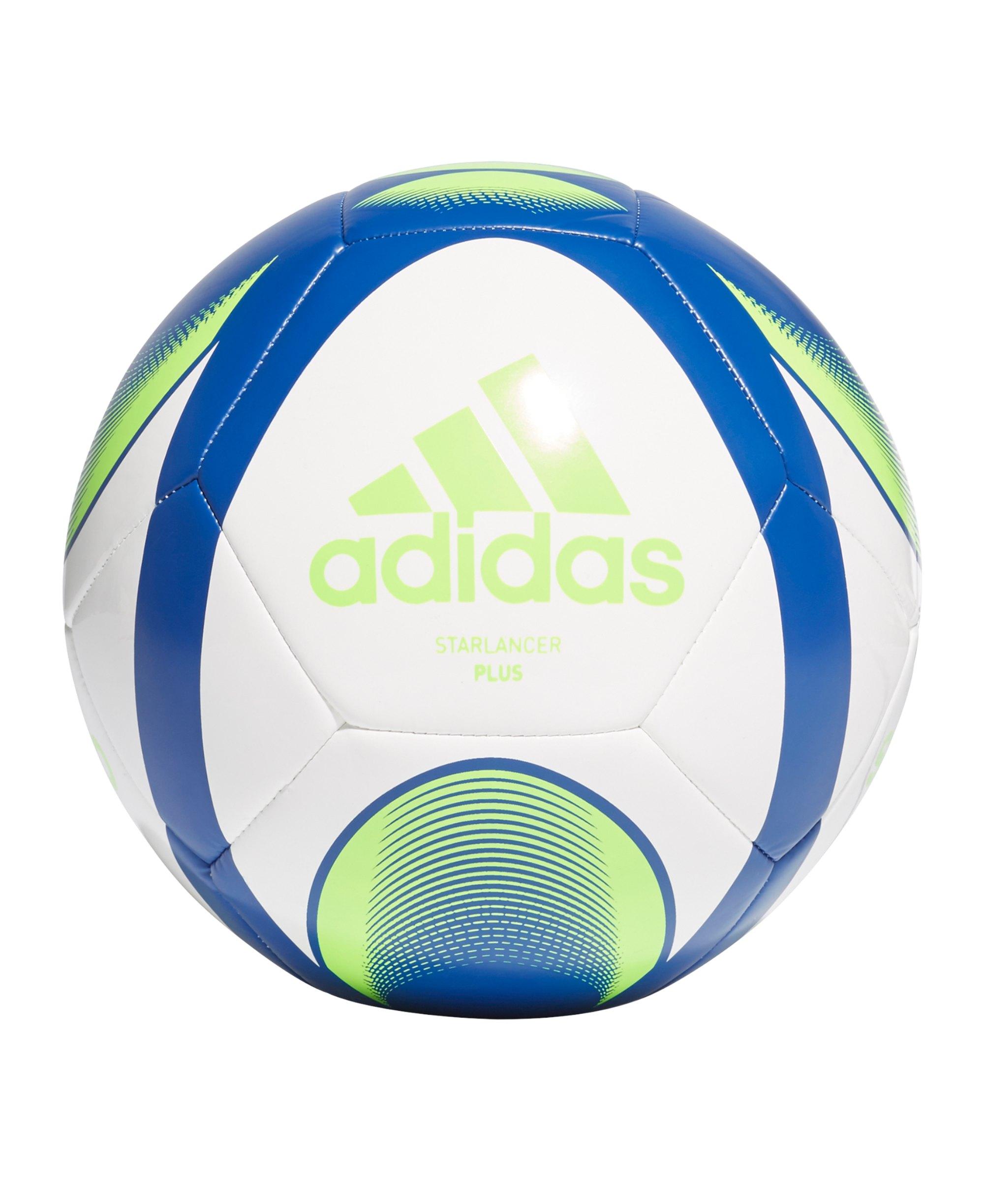 adidas Starlancer Plus Fussball Weiss Blau - weiss
