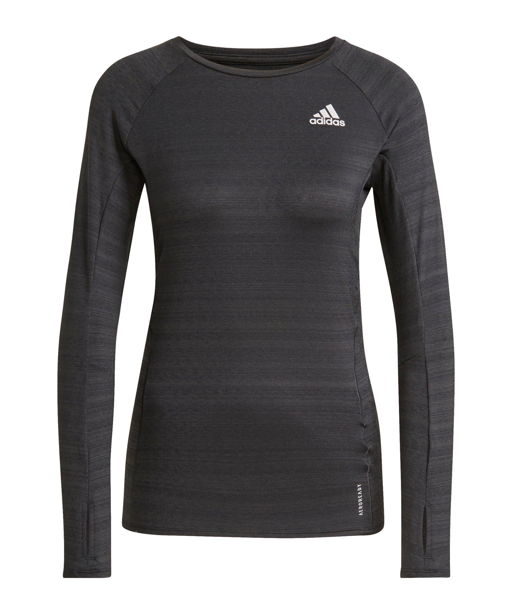adidas Adi Runner Shirt LA Running Damen Schwarz - schwarz