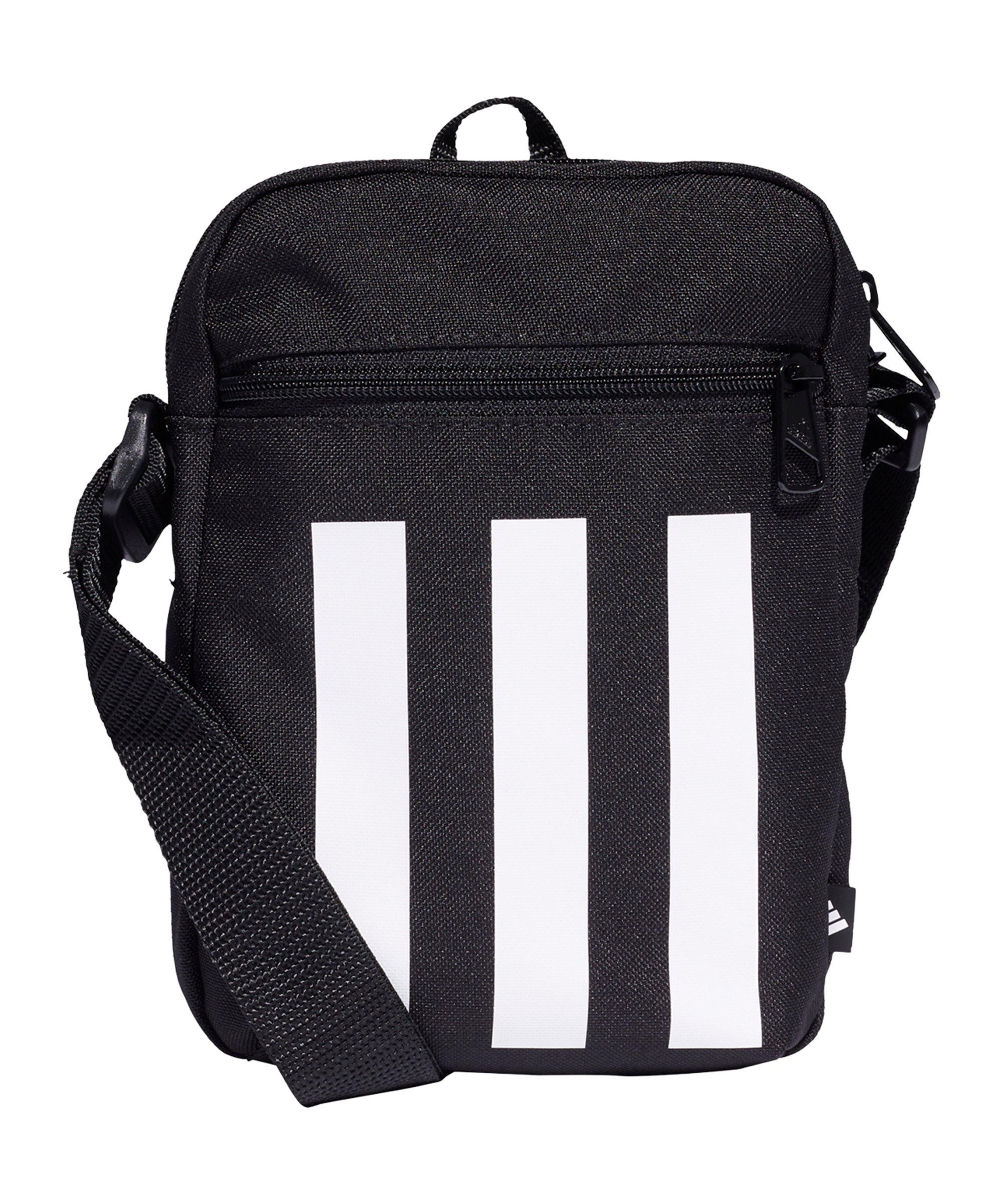 adidas 3 Stripes Tasche Schwarz Weiss - schwarz