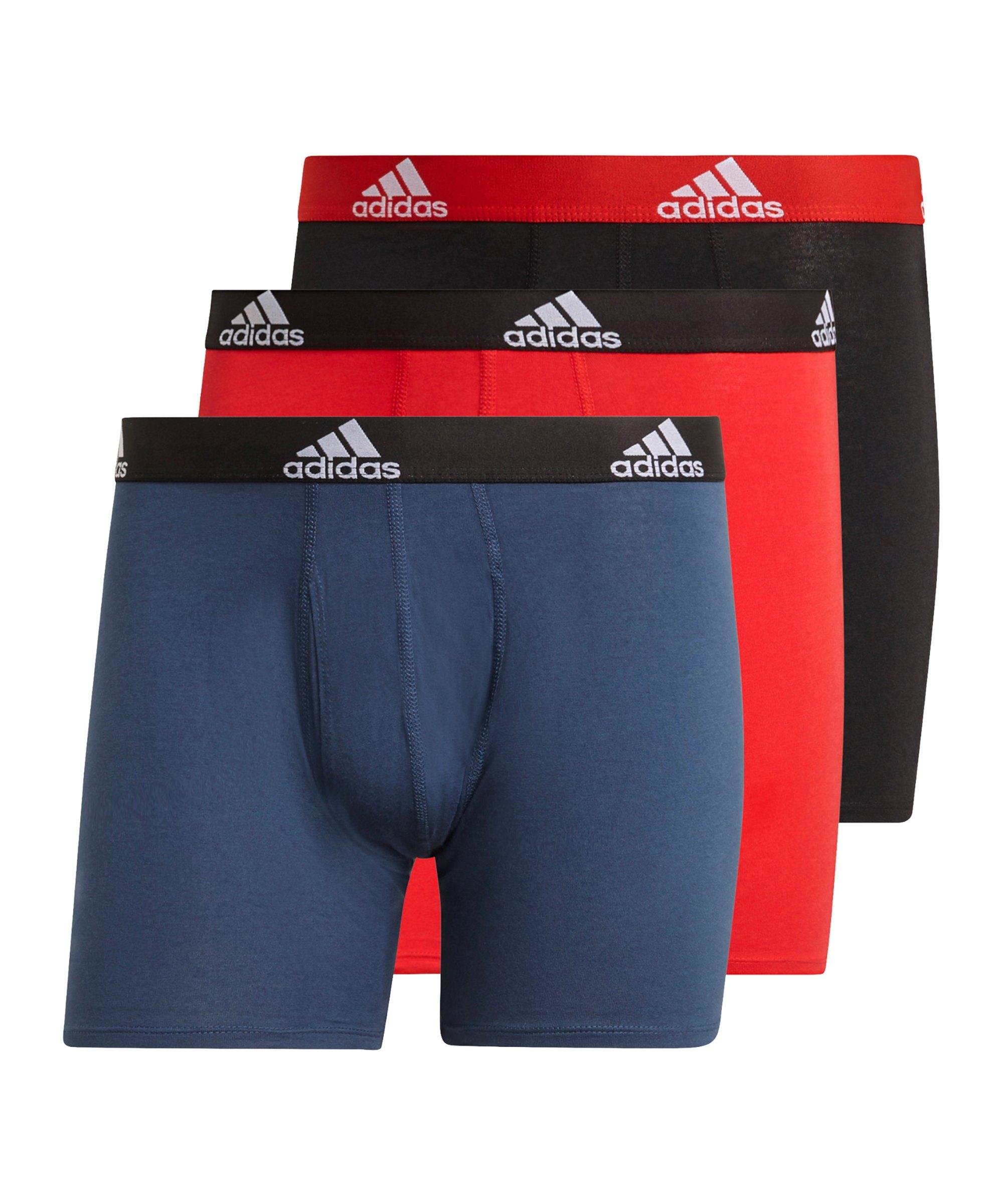 adidas BOS Brief 3erPack Boxershort Schwarz Blau - schwarz