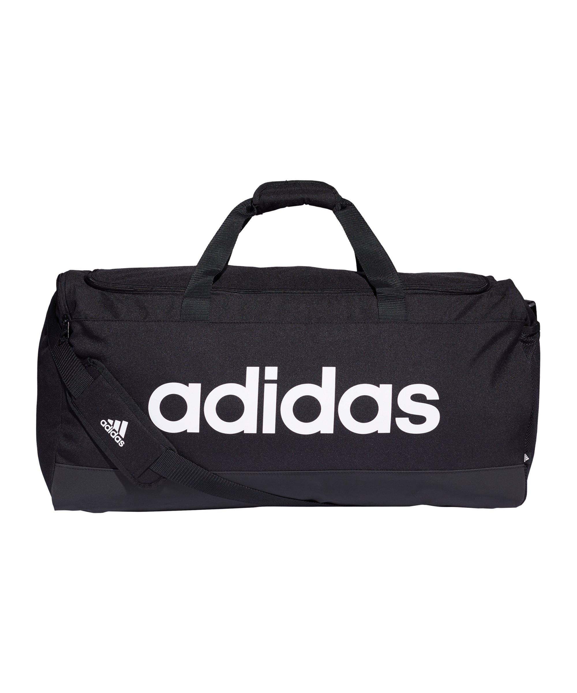 adidas Essentials Duffelbag Gr. L Schwarz Weiss - schwarz