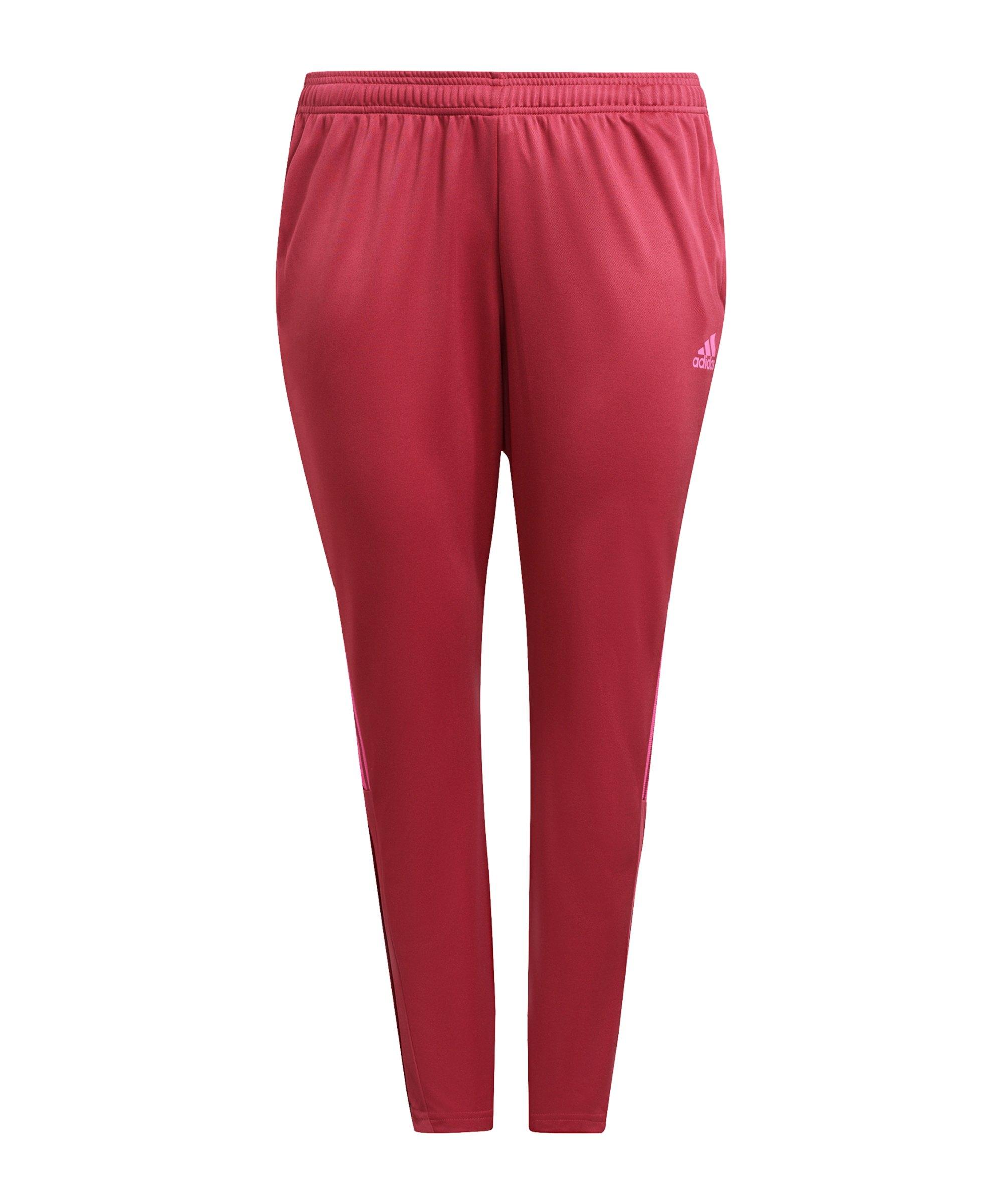 adidas Tiro Trainingshose Plus Size Damen Pink - pink