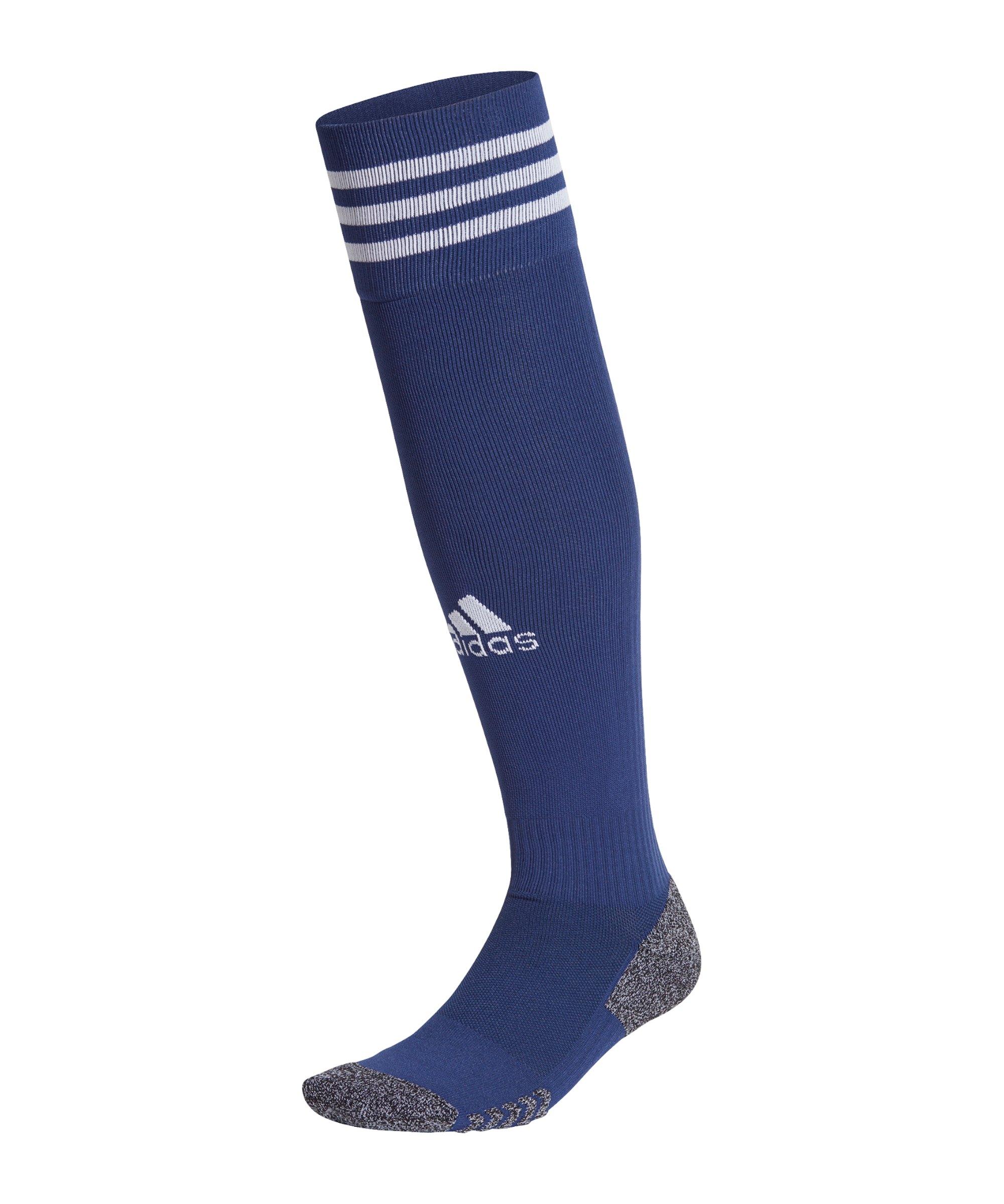 adidas Adisock 21 Strumpfstutzen Dunkelblau Weiss - blau