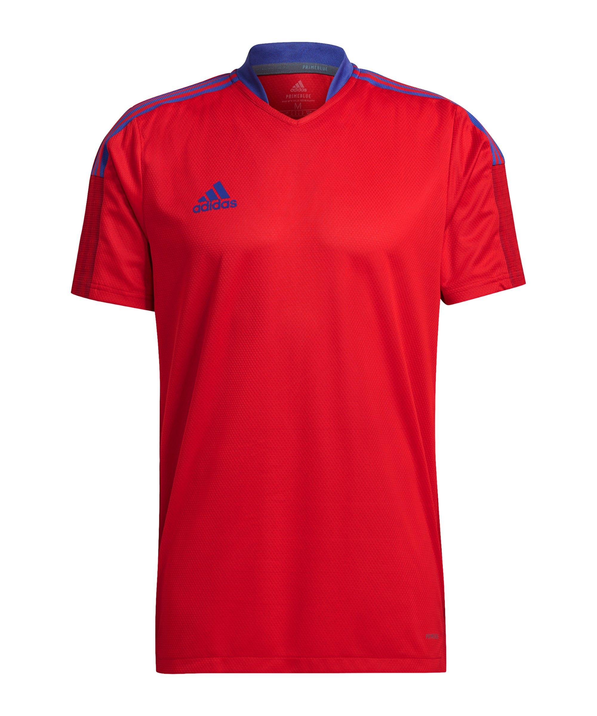 adidas Tiro Primeblue Trikot Training Rot Blau - rot