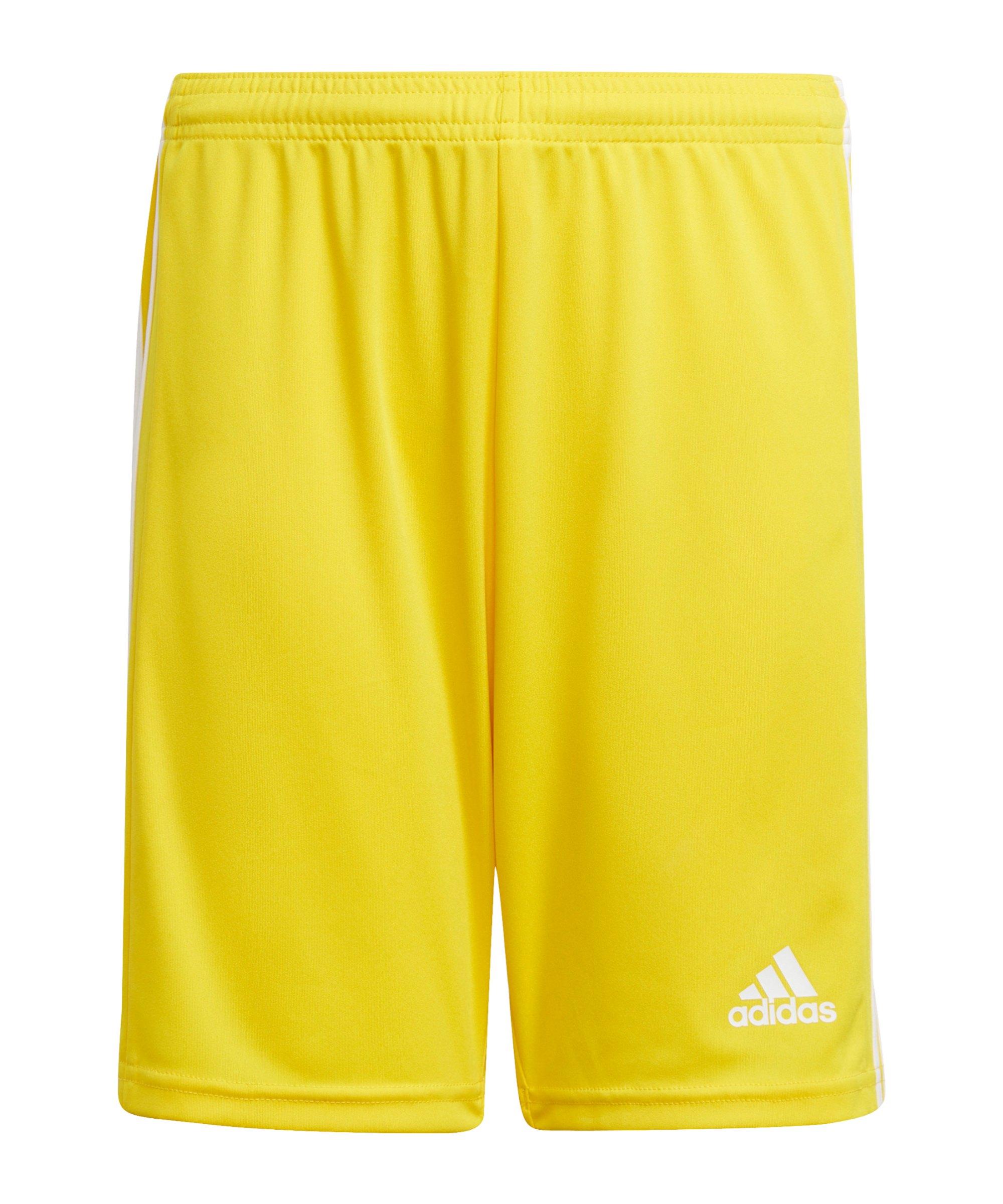 adidas Squadra 21 Short Kids Gelb Weiss - gelb