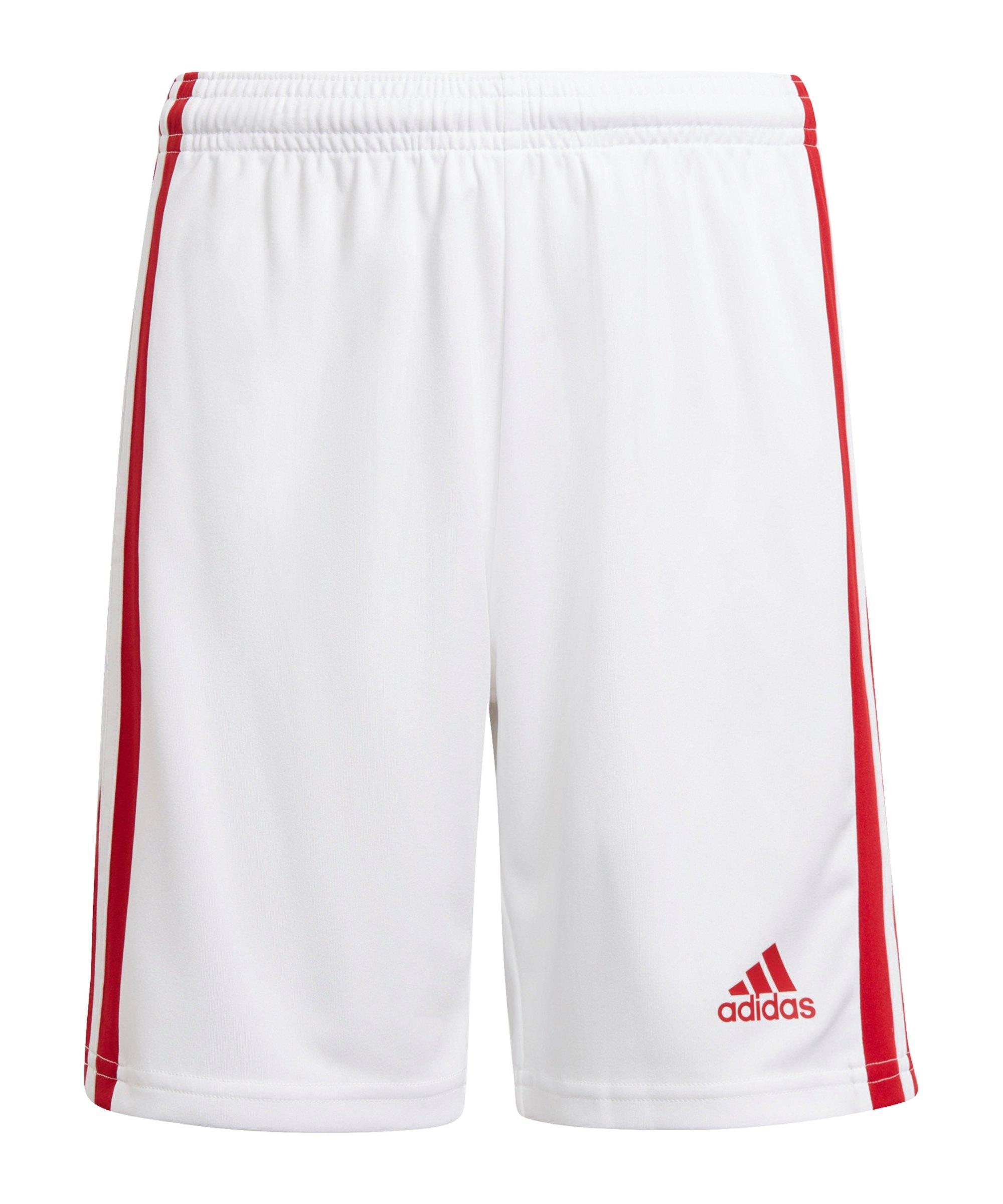 adidas Squadra 21 Short Kids Weiss Rot - weiss