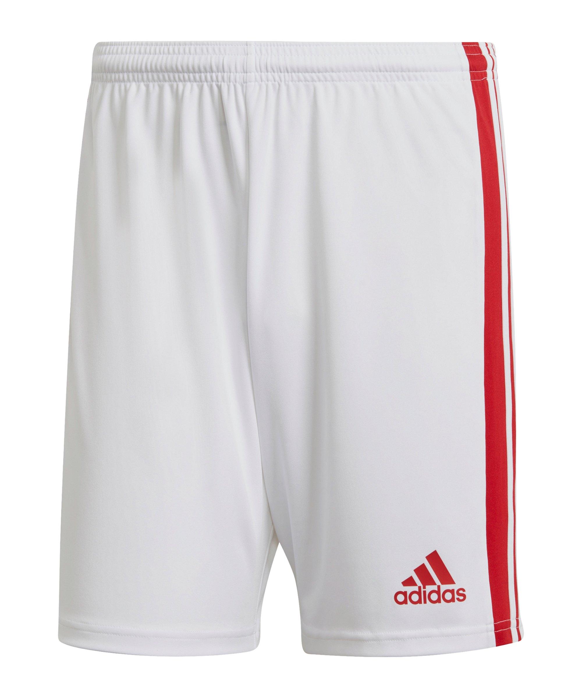 adidas Squadra 21 Short Weiss Rot - weiss