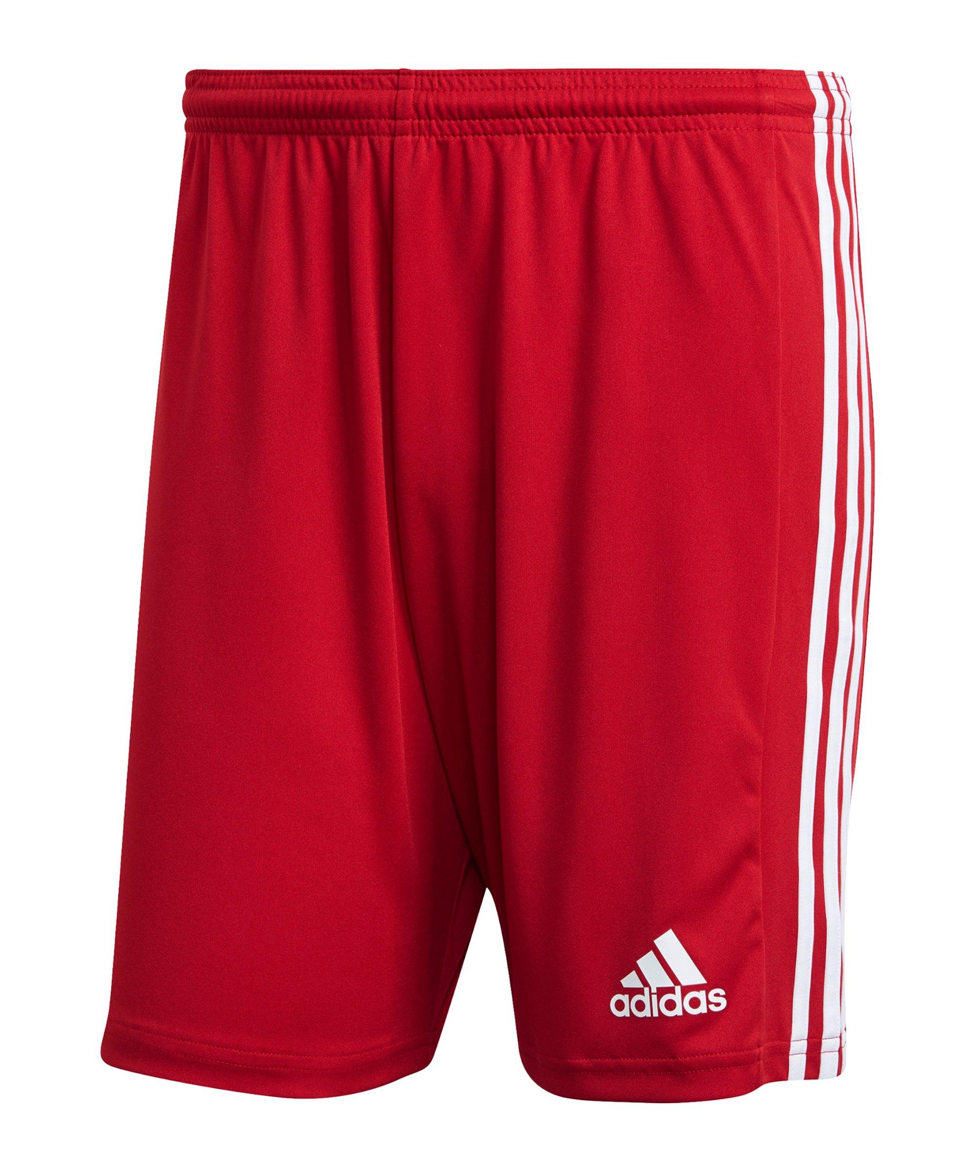 adidas Squadra 21 Short Rot Weiss - rot