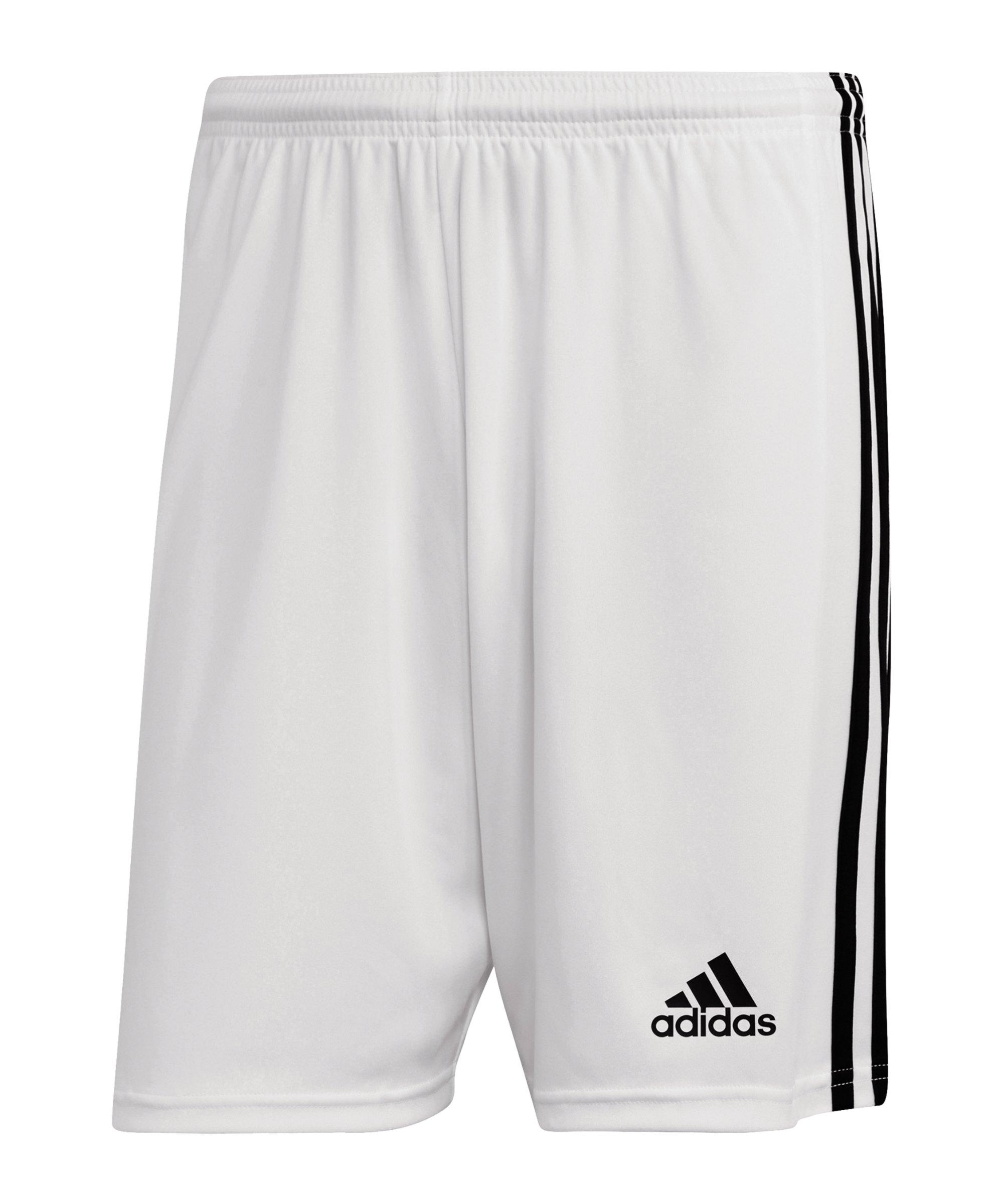adidas Squadra 21 Short Weiss Schwarz - weiss