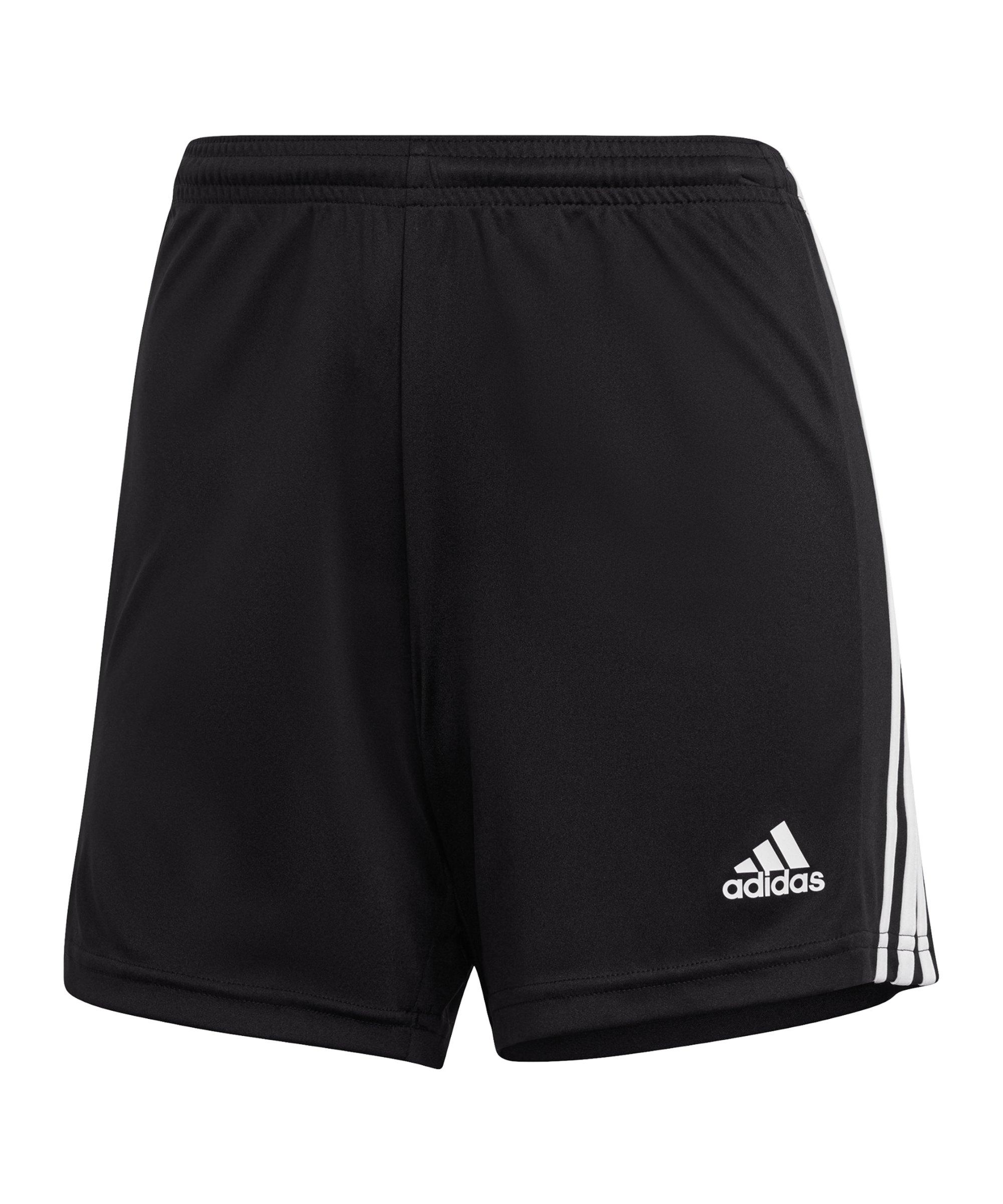 adidas Squadra 21 Short Damen Schwarz Weiss - schwarz