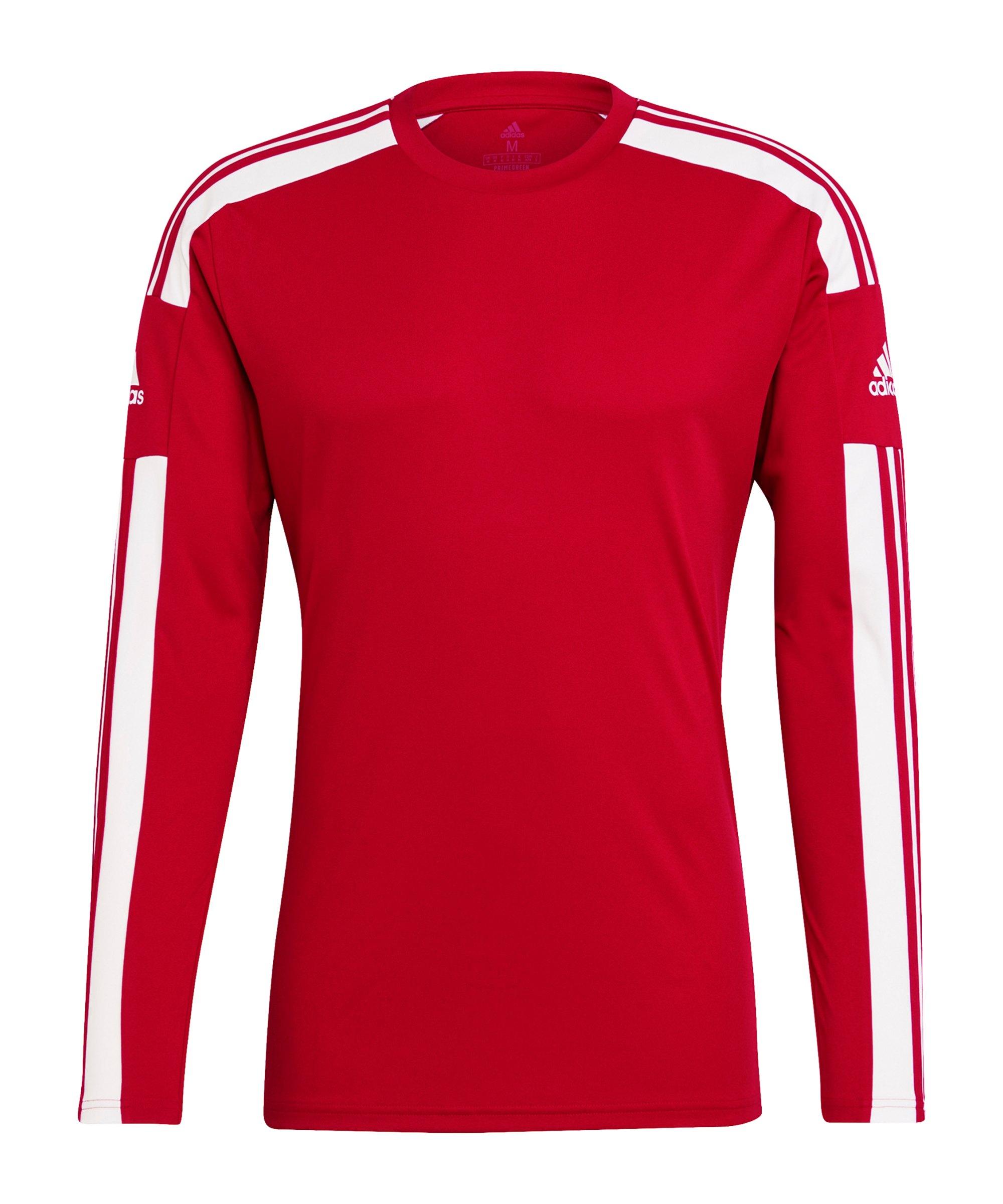 adidas Squadra 21 Trikot langarm Rot Weiss - rot