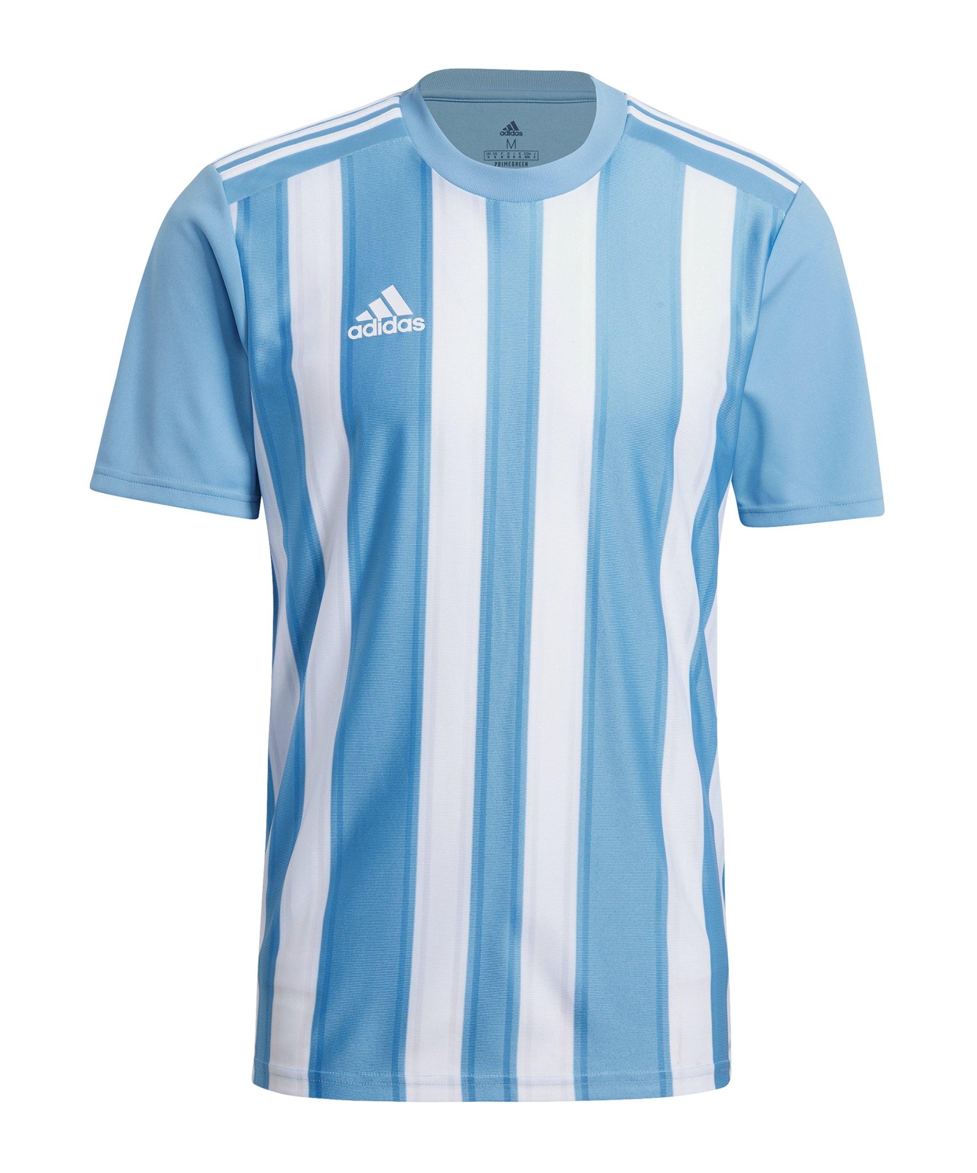 adidas Striped 21 Trikot Hellblau Weiss - blau
