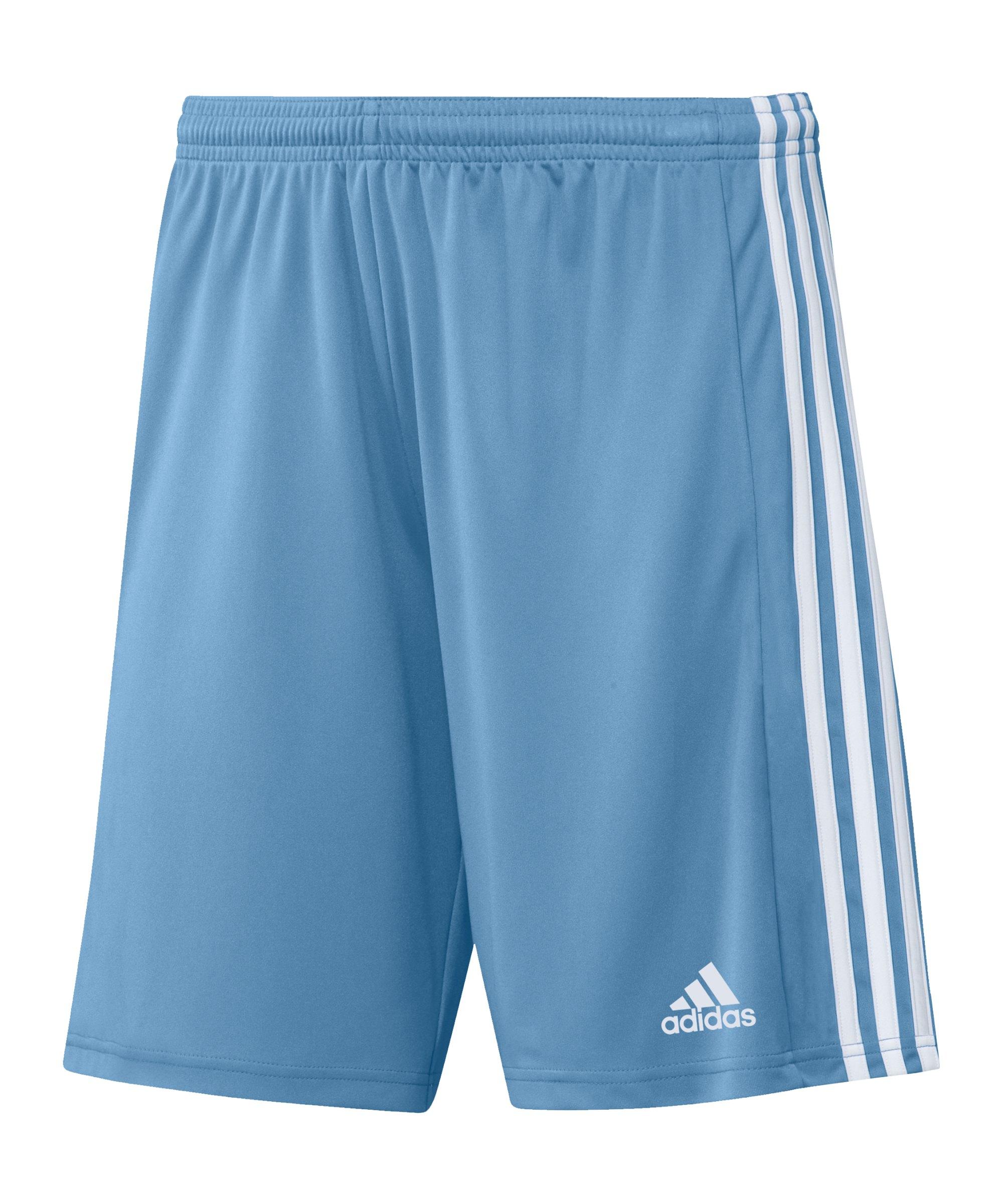 adidas Squadra 21 Short Hellblau Weiss - blau