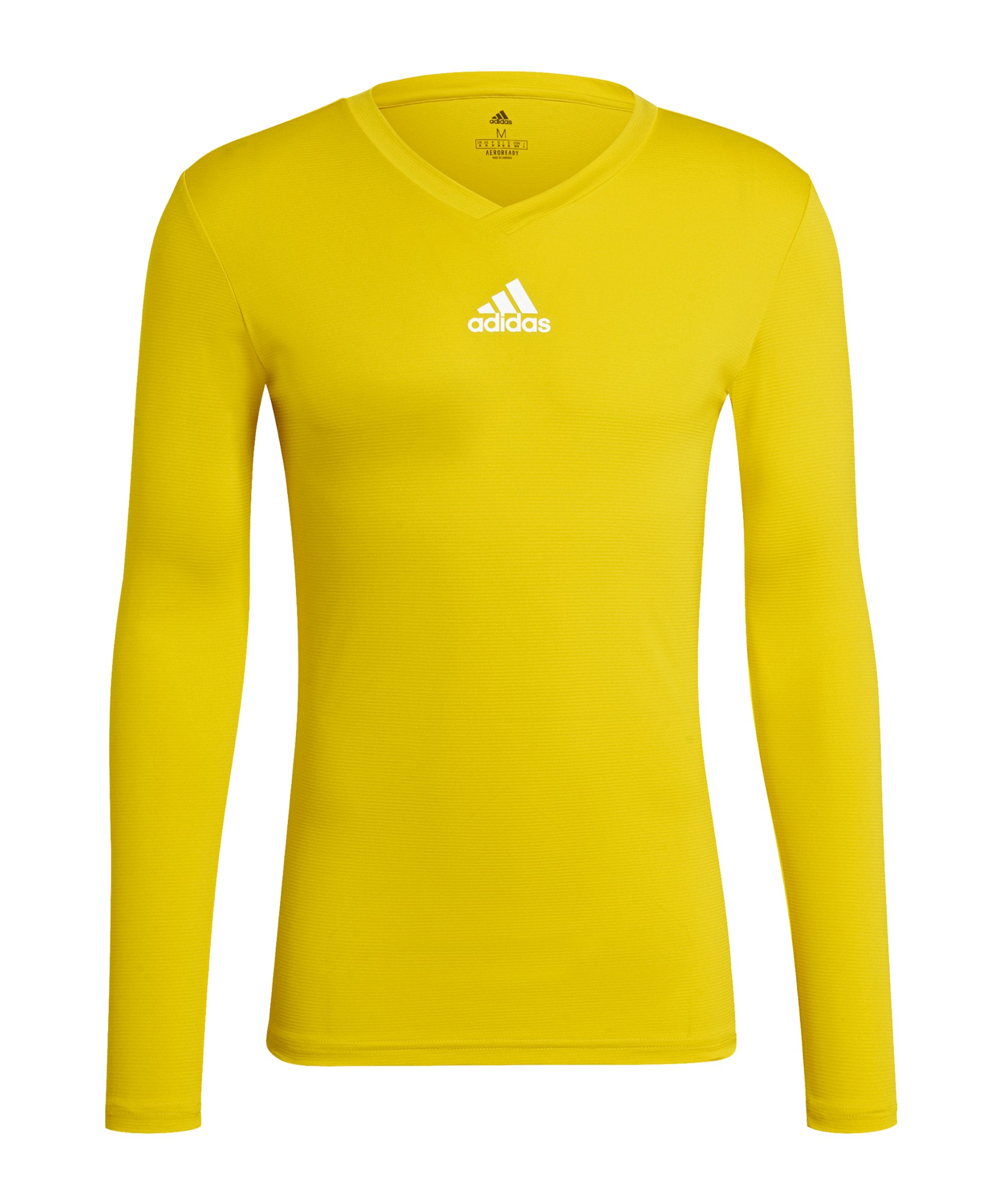 adidas Team Base Top langarm Gelb - gelb