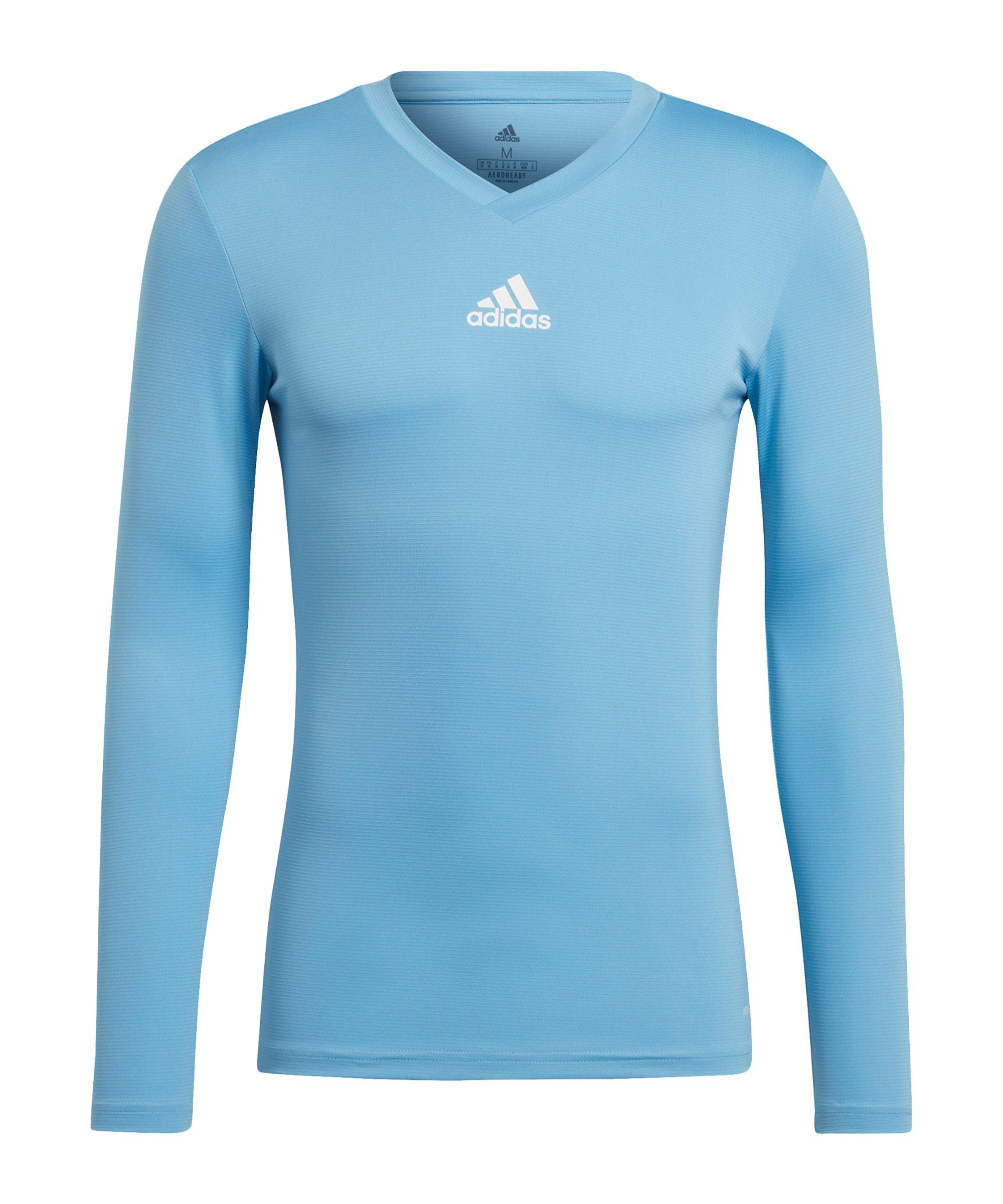 adidas Team Base Top langarm Hellblau - blau