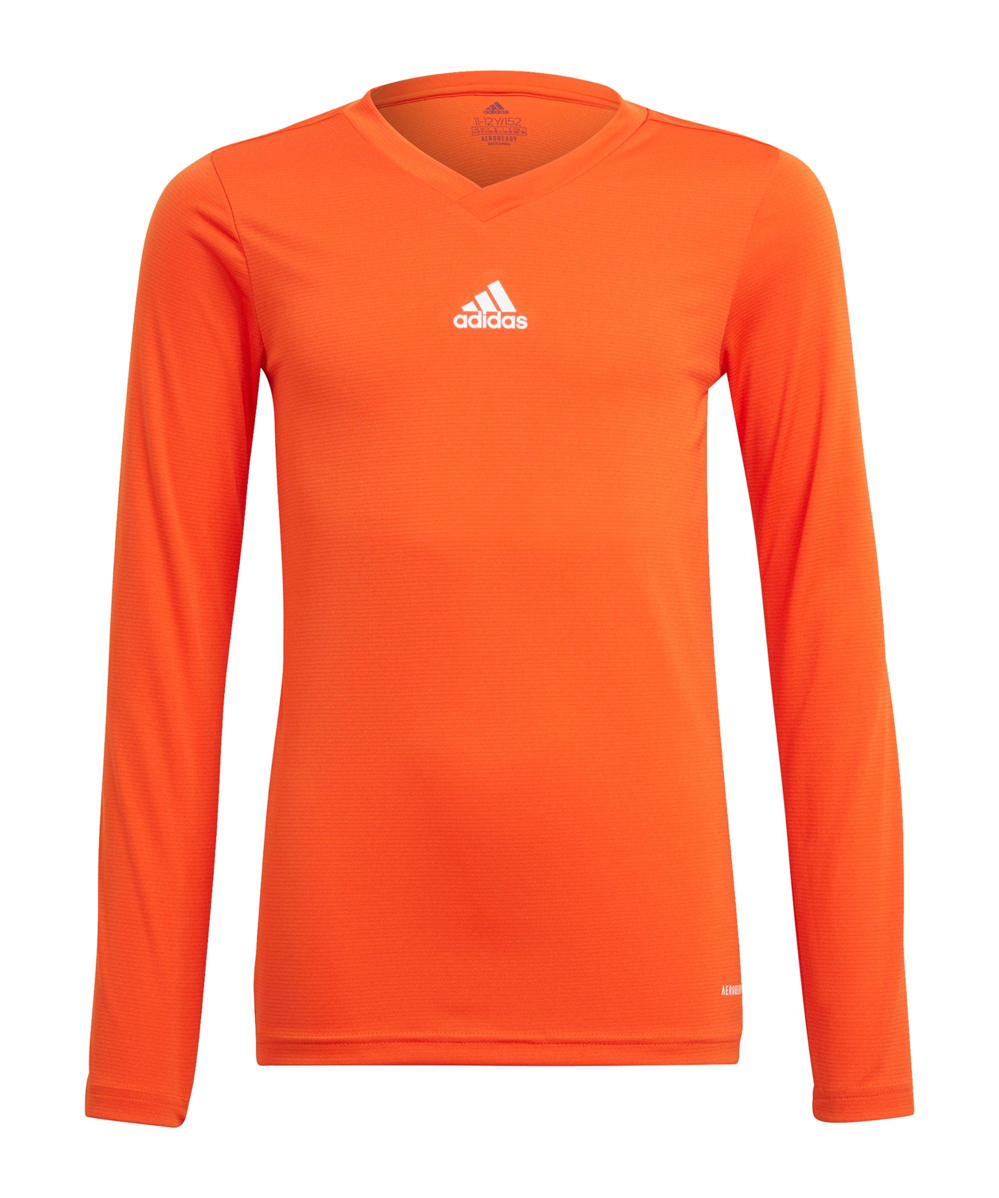 adidas Team Base Top langarm Kids Orange - orange