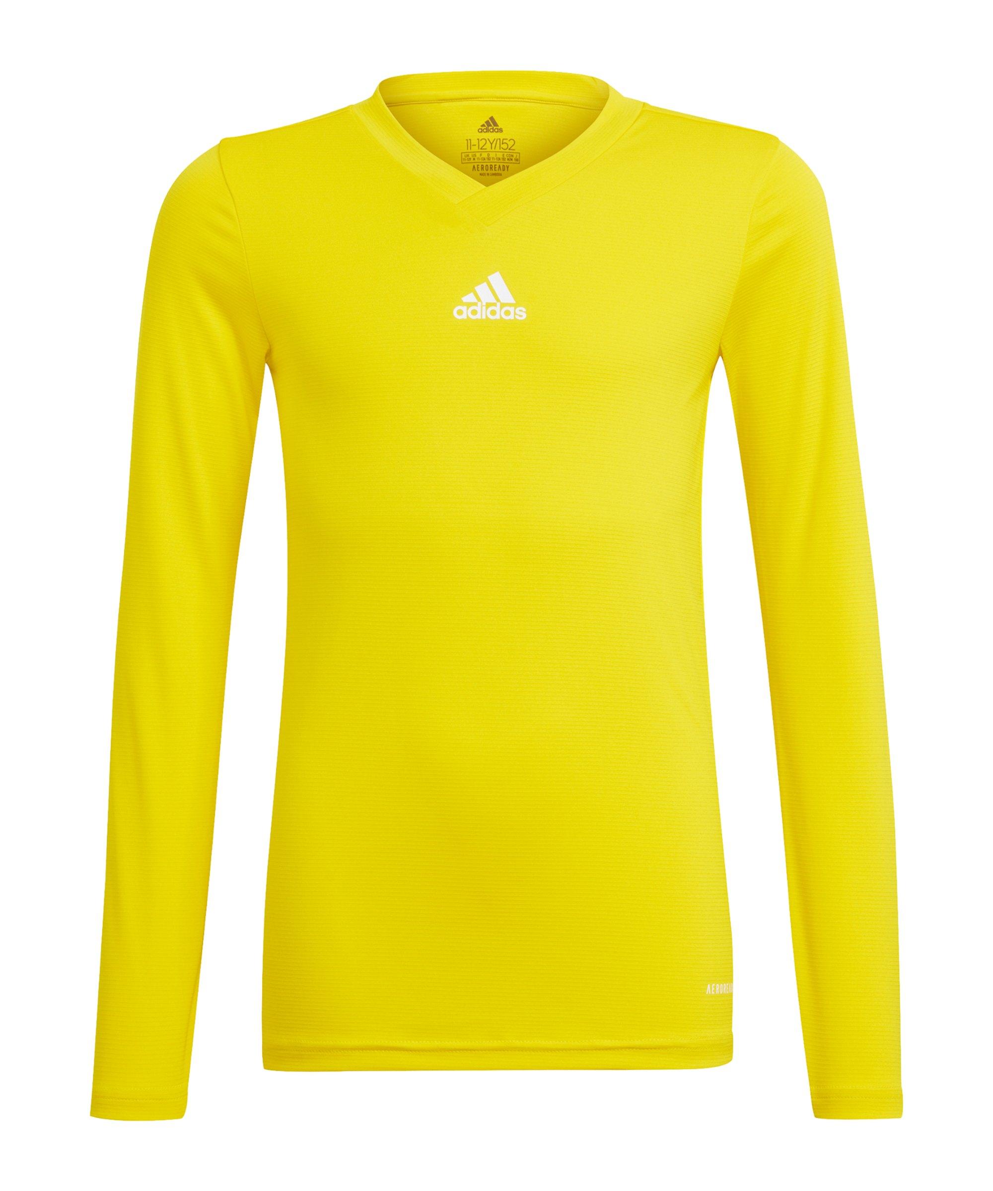 adidas Team Base Top langarm Kids Gelb - gelb