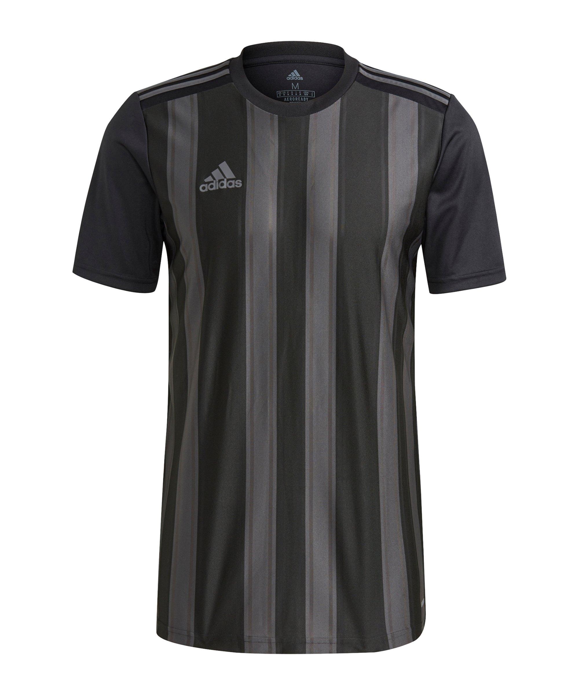adidas Striped 21 Trikot Schwarz Grau - schwarz