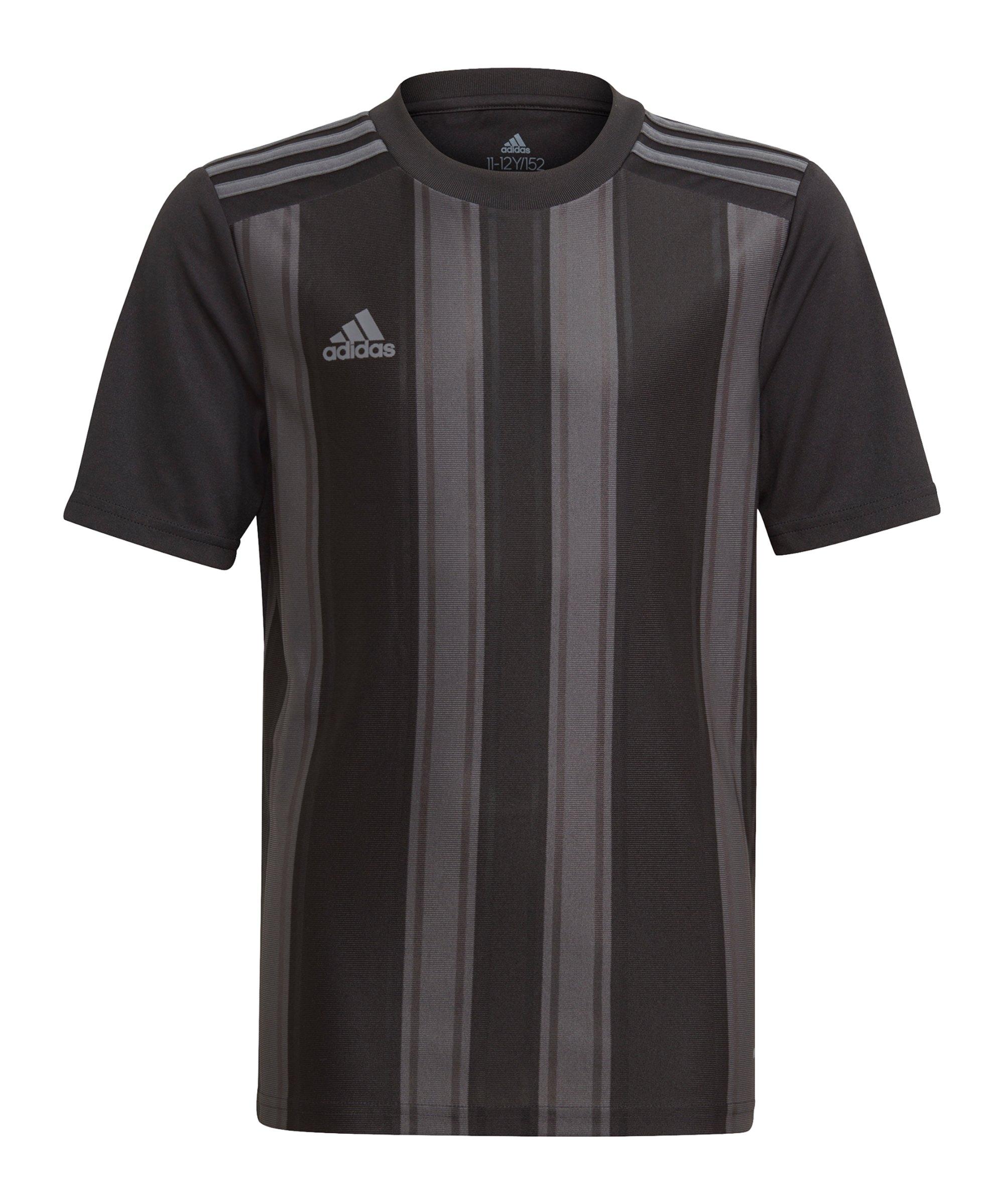 adidas Striped 21 Trikot Kids Schwarz Grau - schwarz