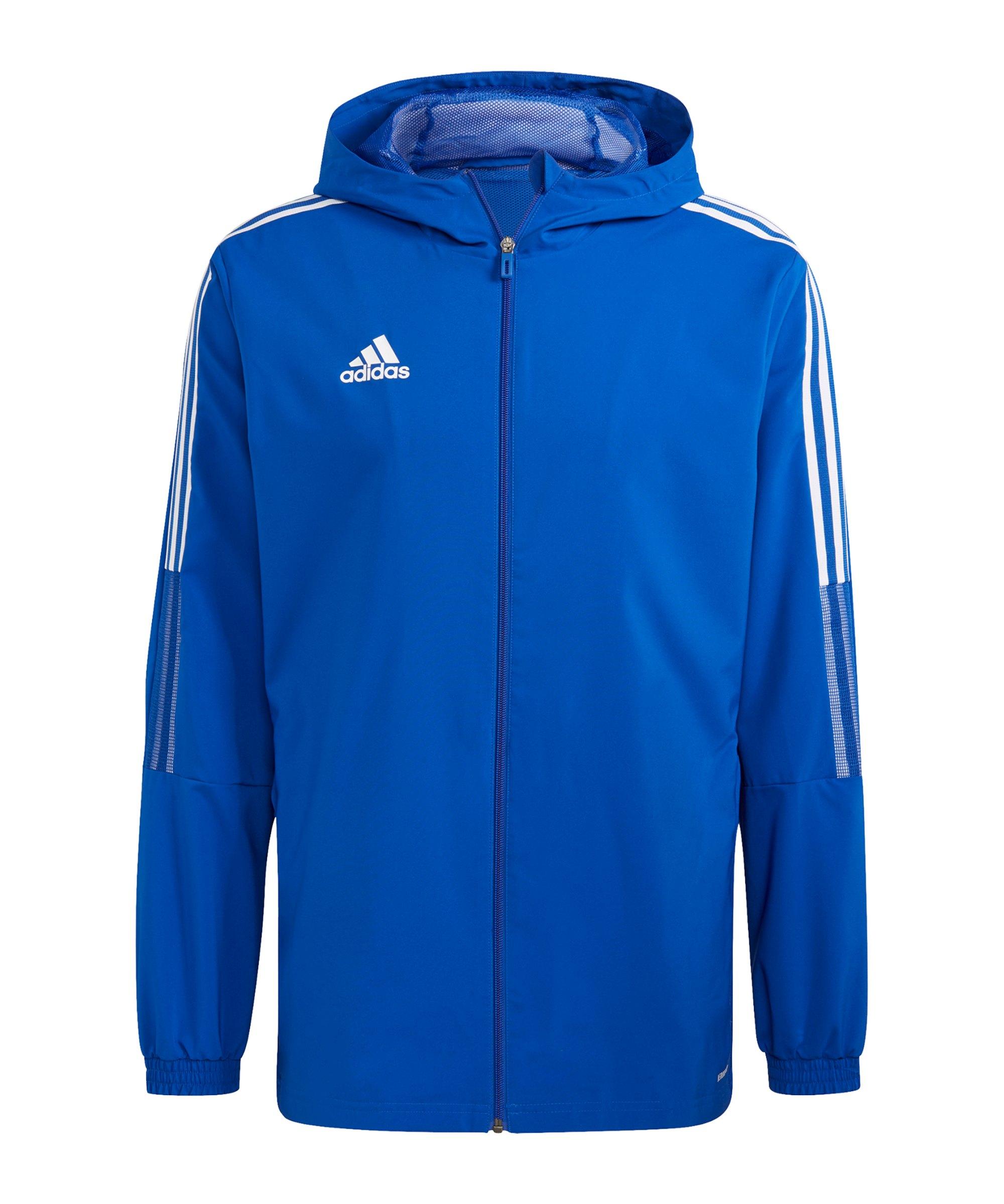 adidas Tiro 21 Windbreaker Blau - blau