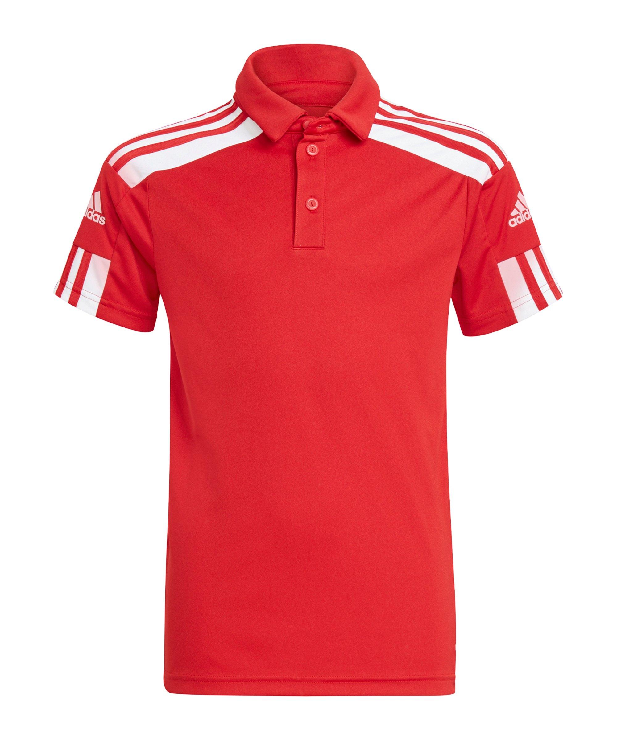 adidas Squadra 21 Poloshirt Kids Rot Weiss - rot