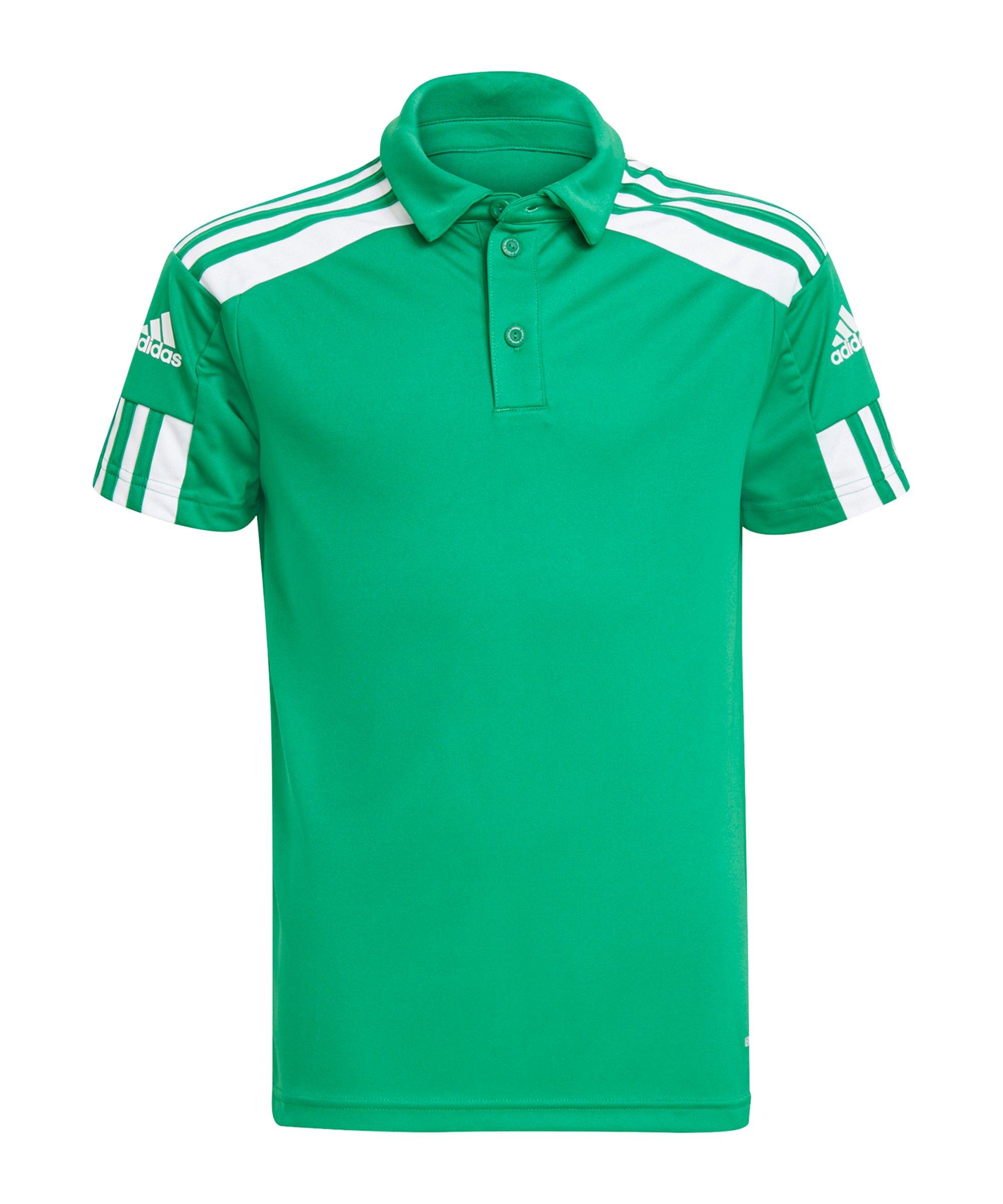 adidas Squadra 21 Poloshirt Kids Grün Weiss - gruen