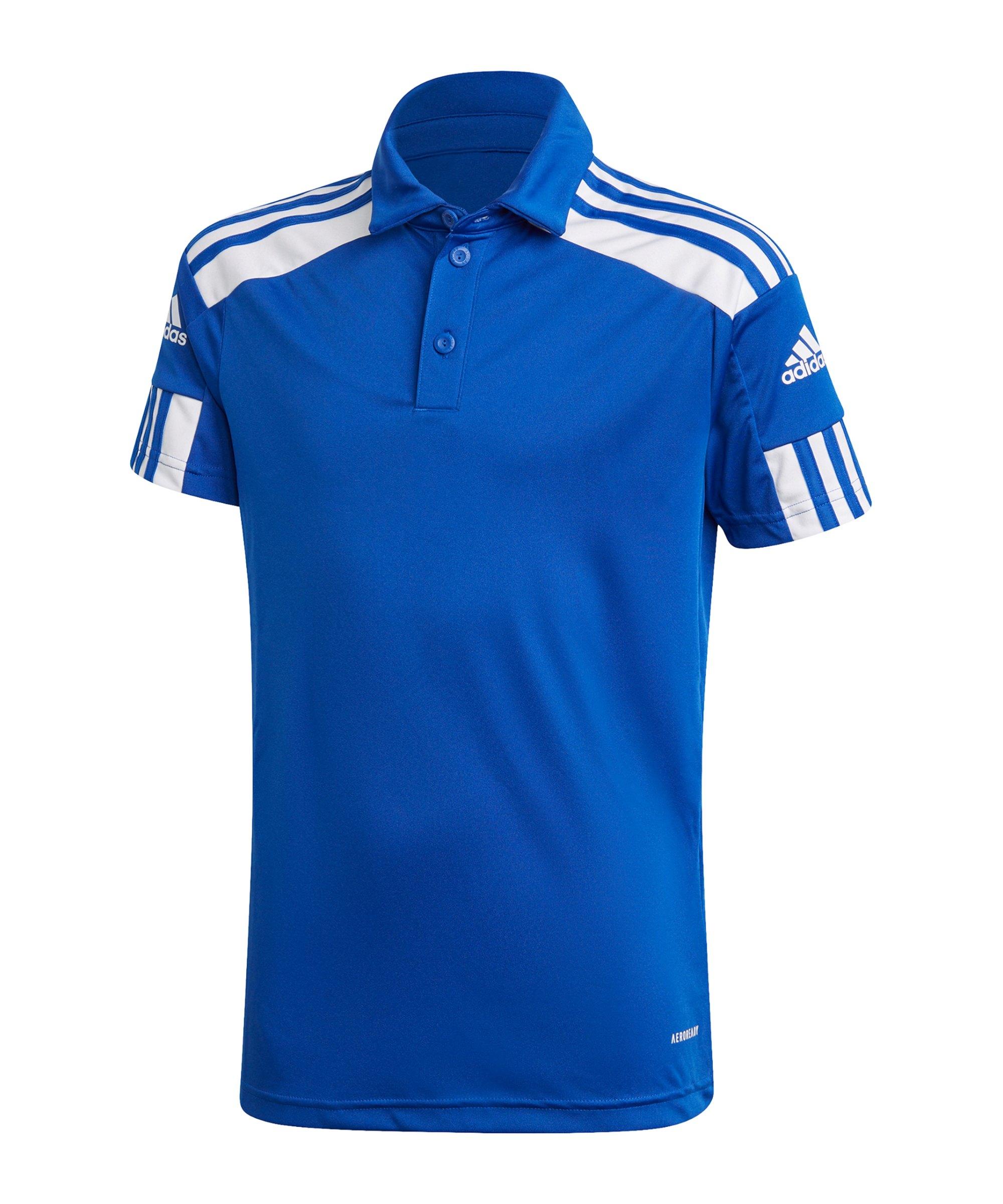 adidas Squadra 21 Poloshirt Kids Blau Weiss - blau