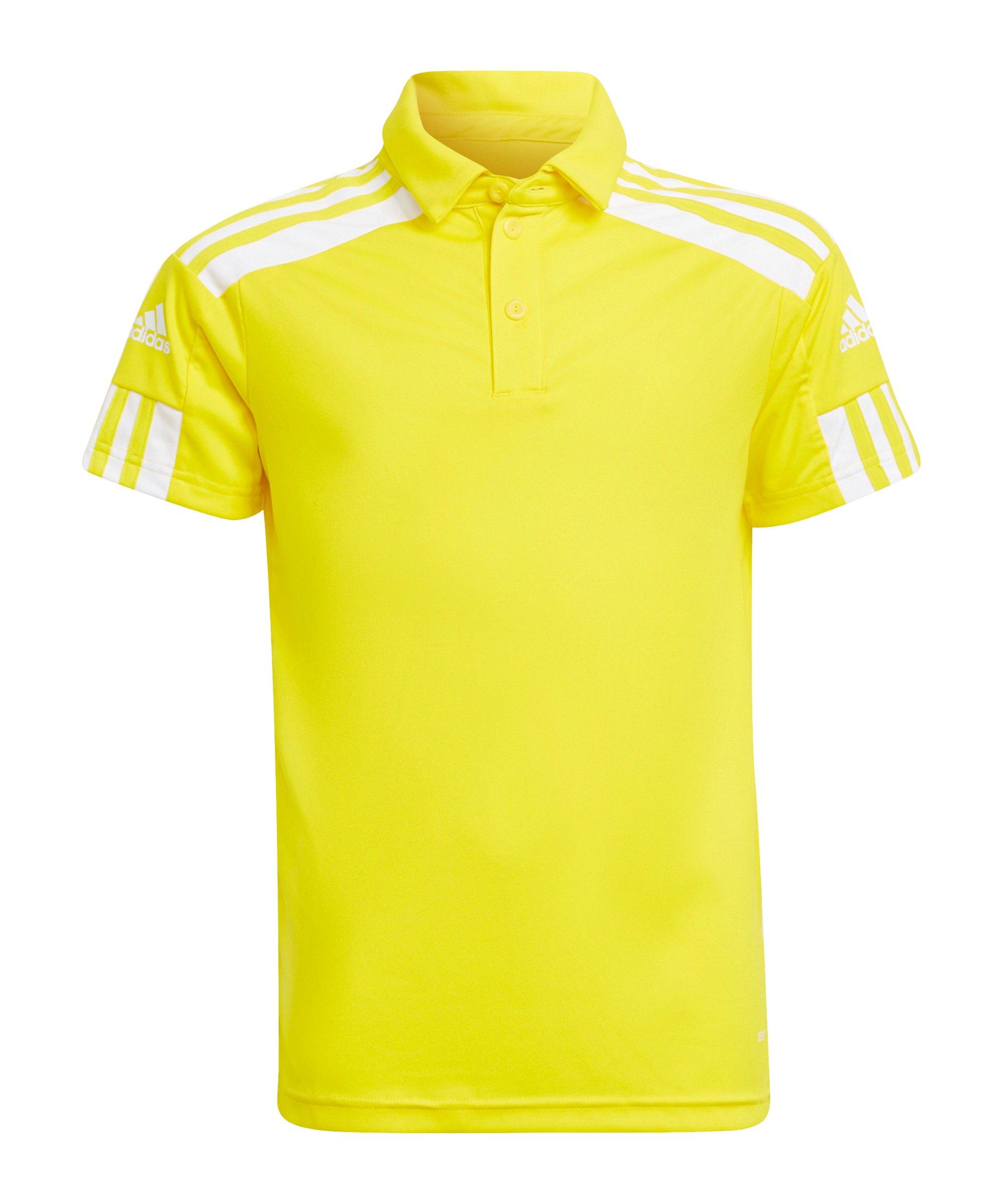 adidas Squadra 21 Poloshirt Kids Gelb Weiss - gelb