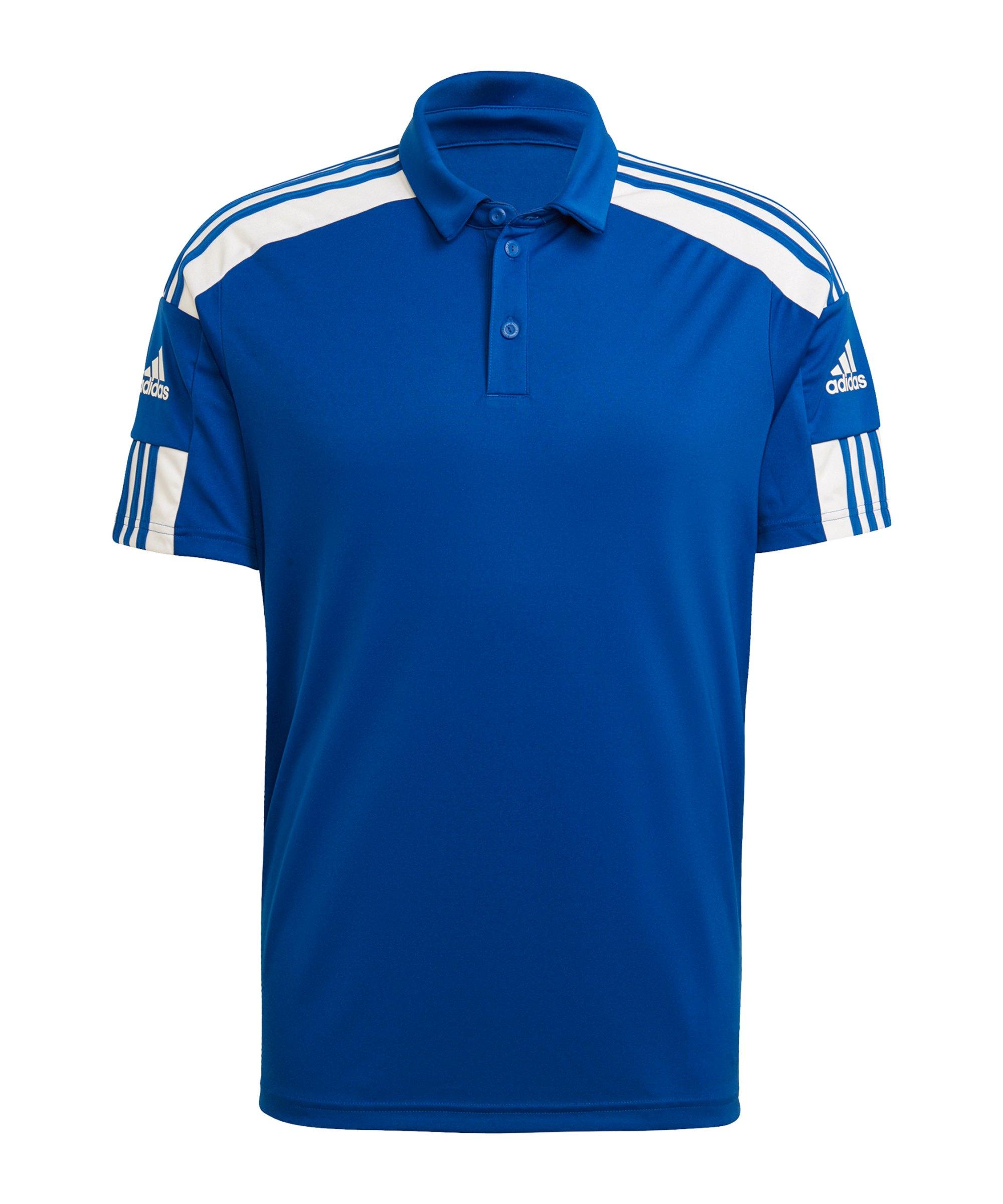 adidas Squadra 21 Poloshirt Blau Weiss - blau