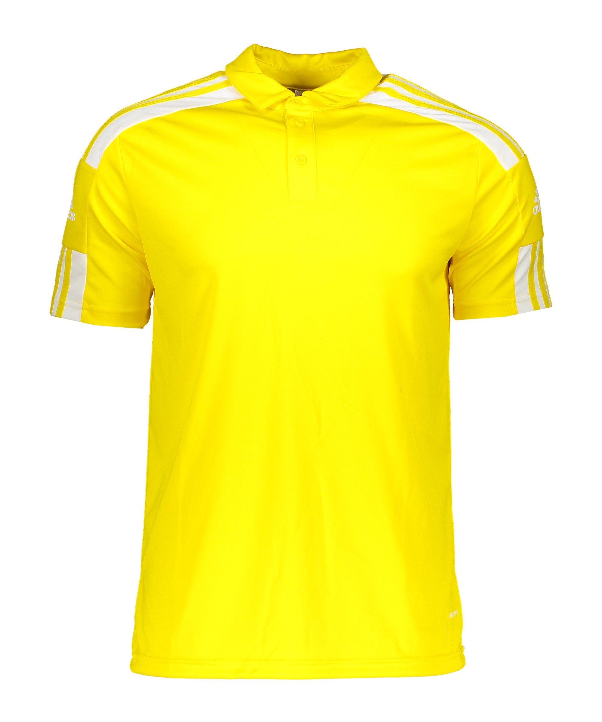 adidas Squadra 21 Poloshirt Gelb Weiss - gelb