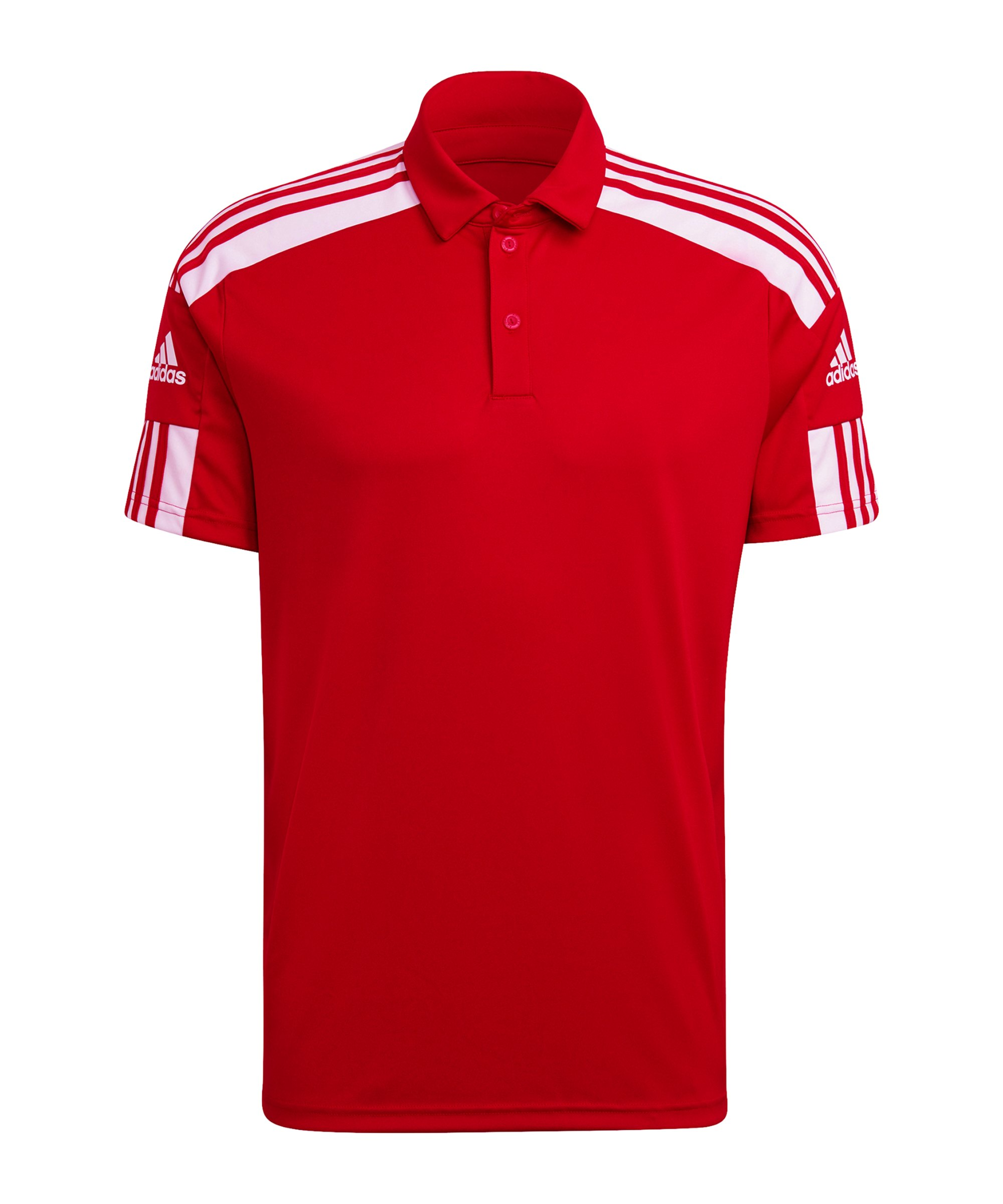 adidas Squad 21 Poloshirt Rot Weiss - rot
