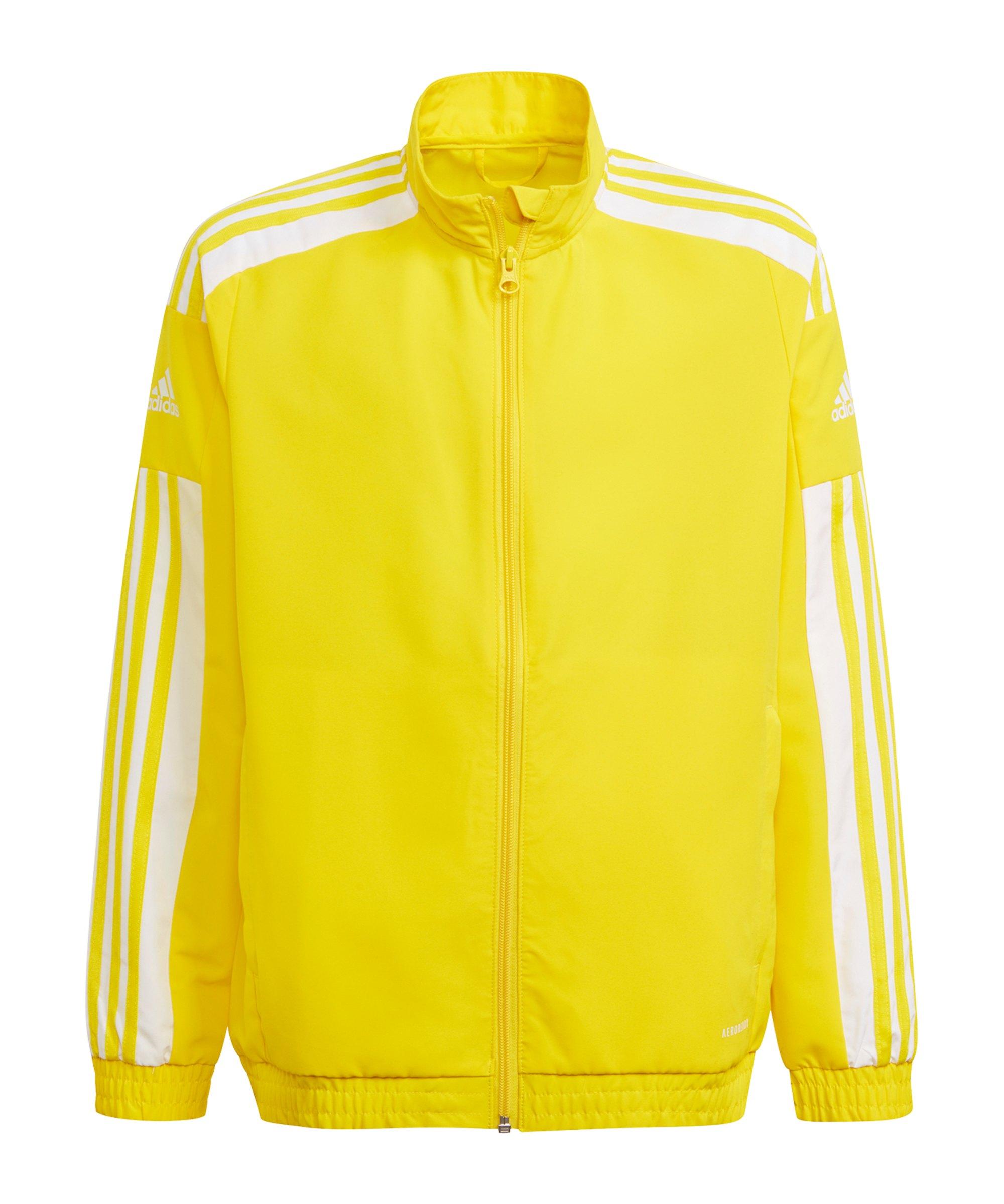 adidas Squadra 21 Präsentationsjacke Kids Gelb - gelb